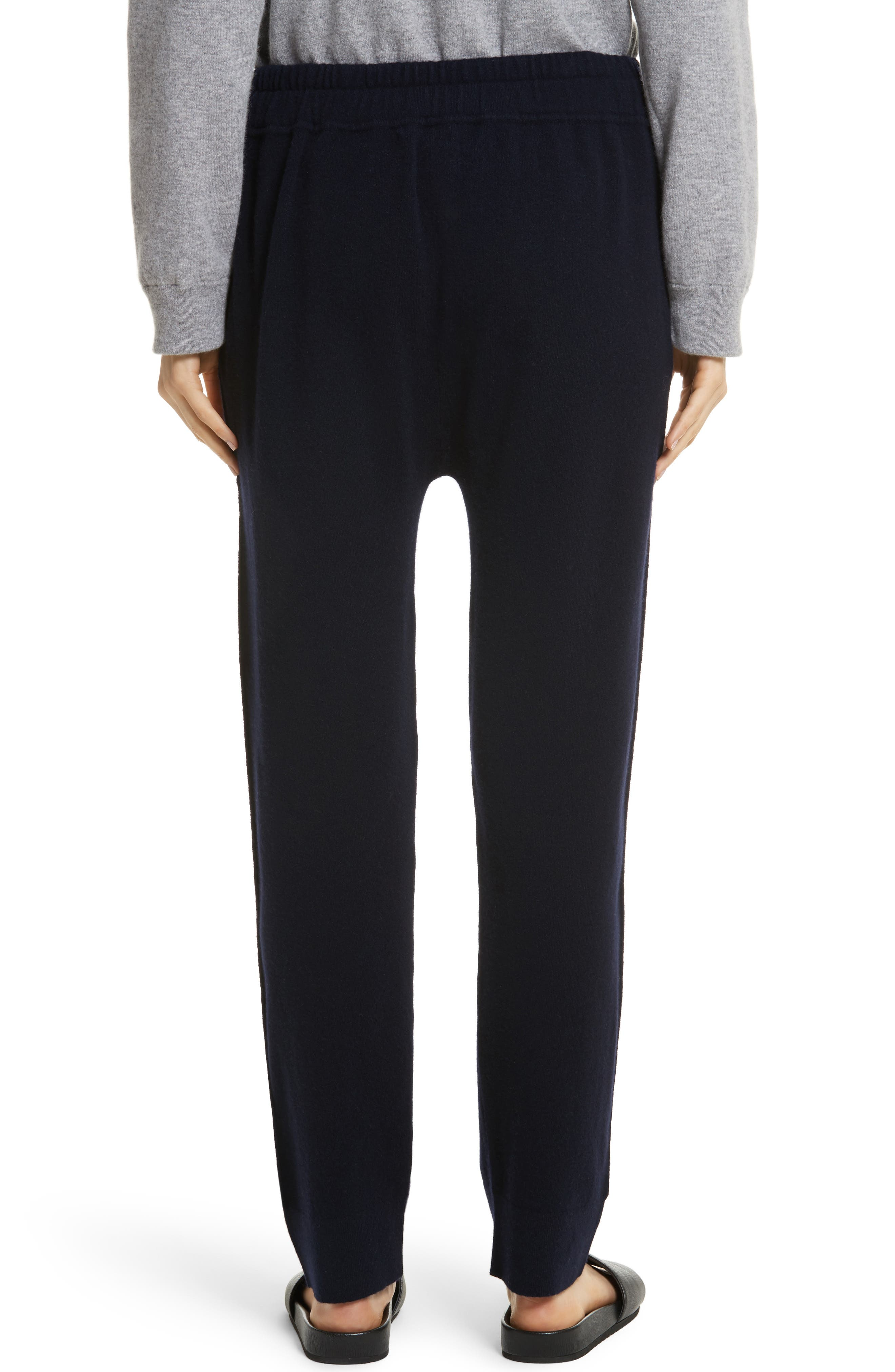 Wool & Cashmere Blend Jogger Pants,                             Alternate thumbnail 4, color,