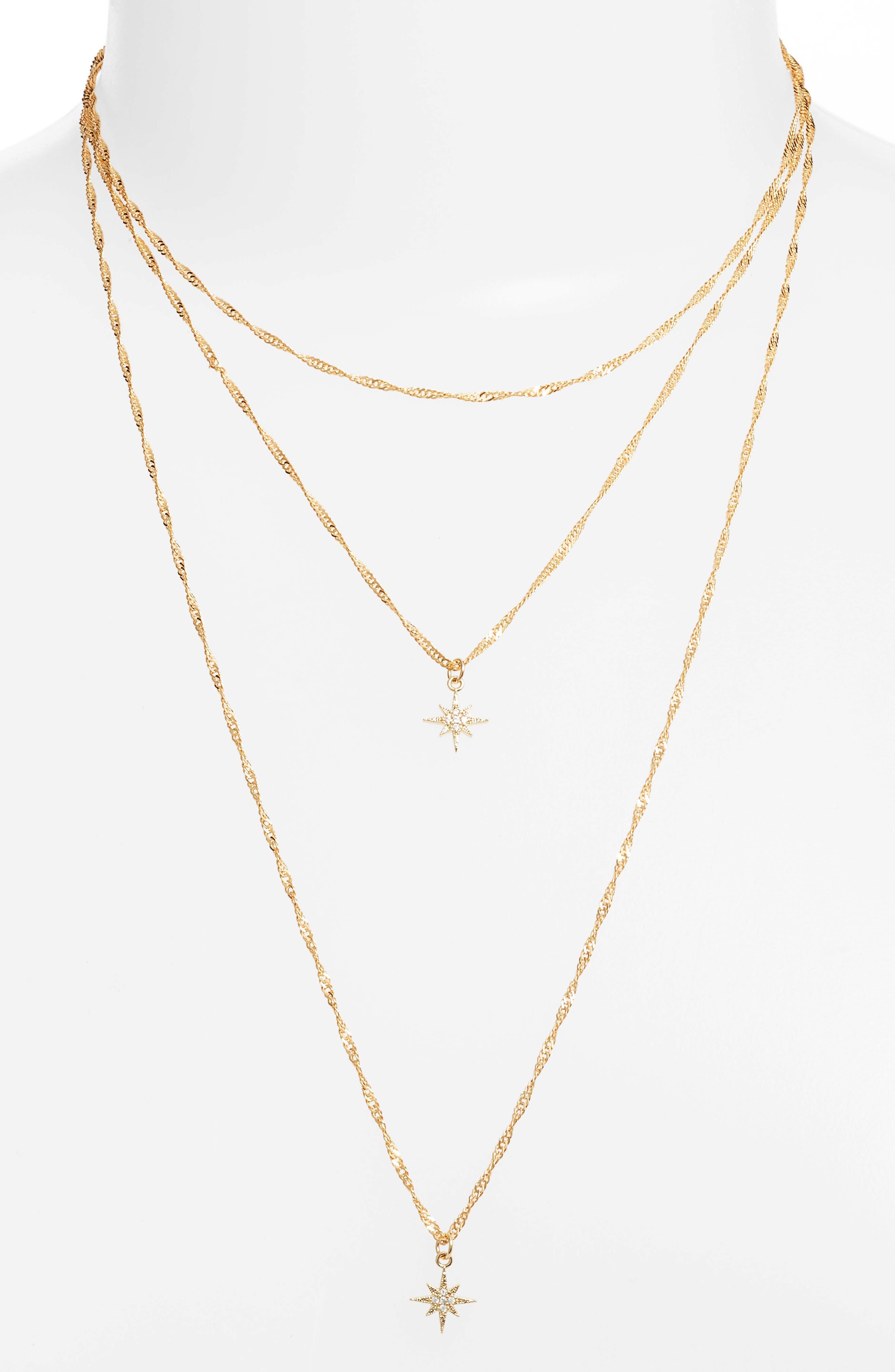 Yolanda Layered Necklace,                             Main thumbnail 1, color,                             GOLD