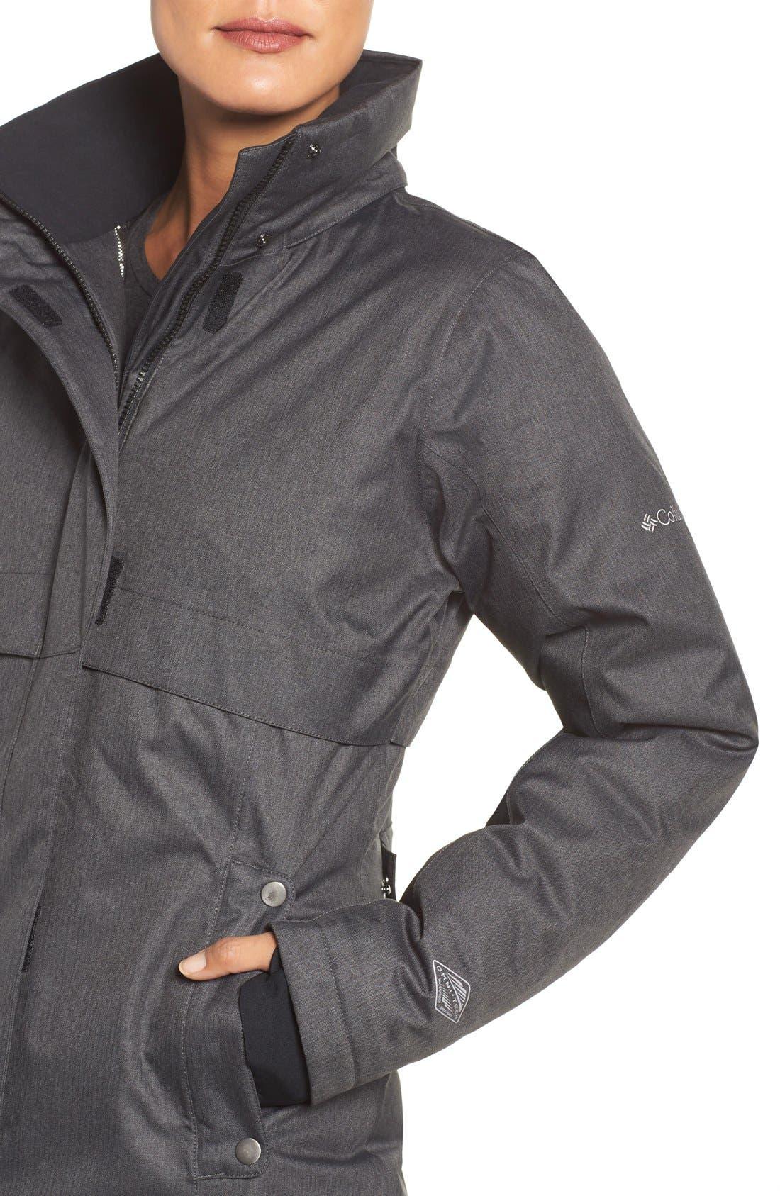 Apres Arson<sup>™</sup> Down Jacket with Faux Fur Trim,                             Alternate thumbnail 2, color,                             010