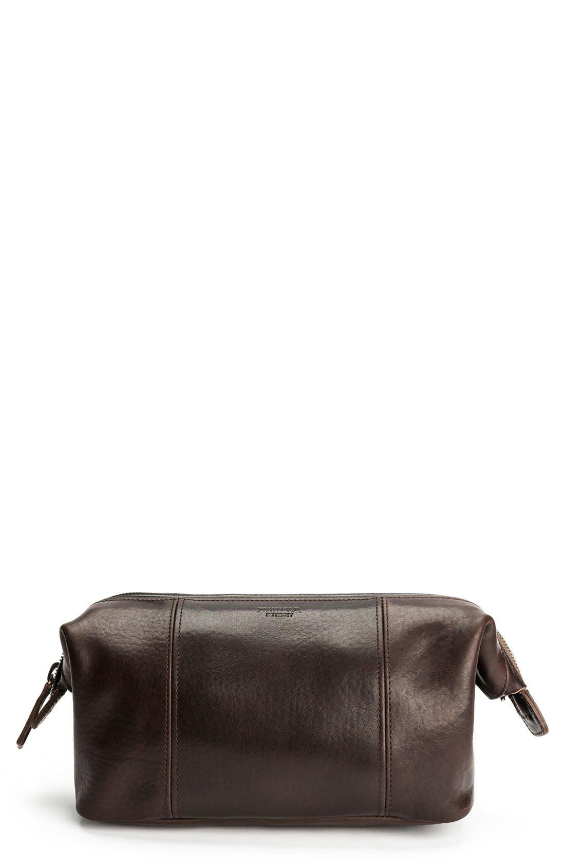 Leather Travel Kit,                             Main thumbnail 3, color,