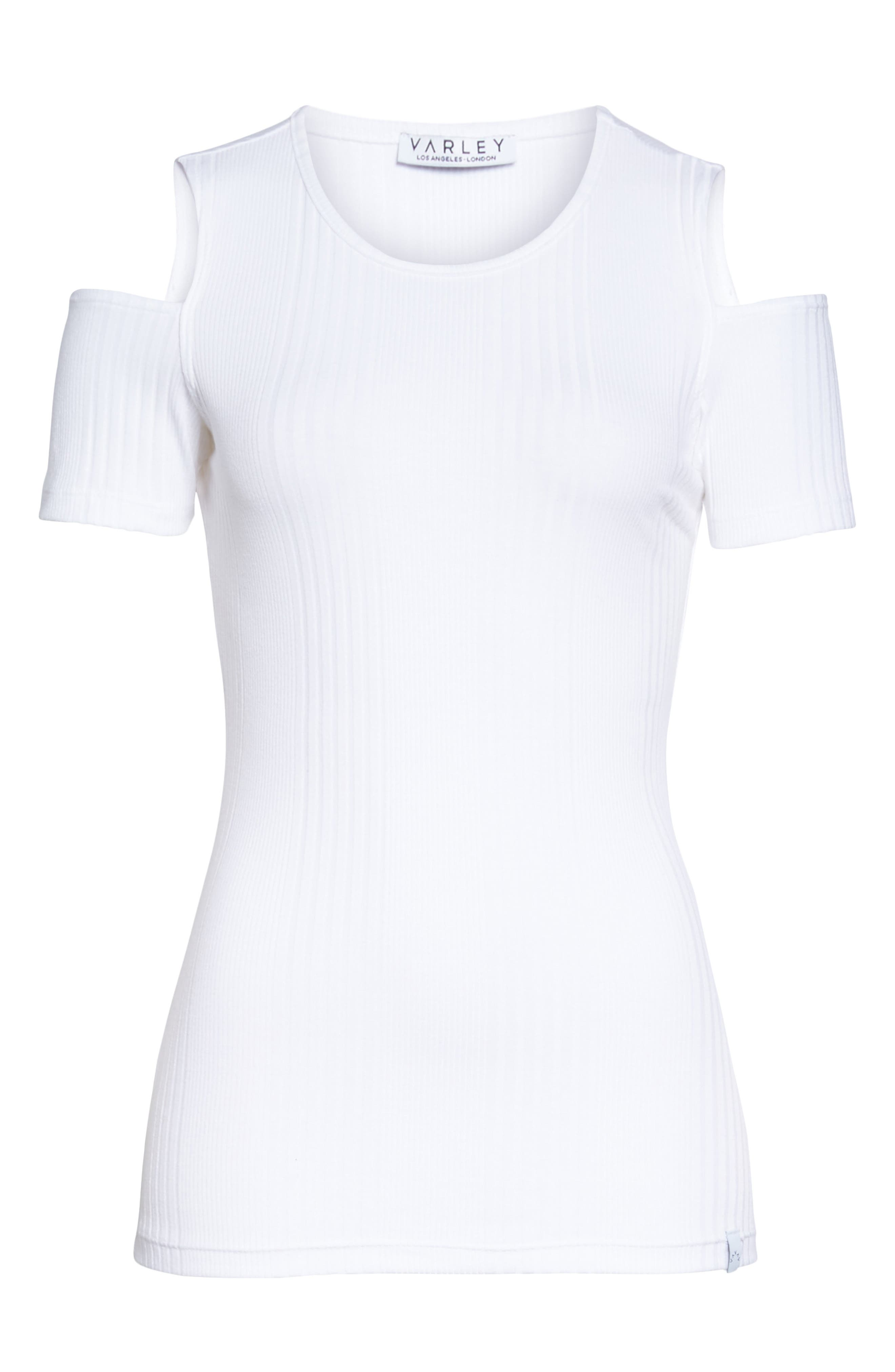 Pershing Cold Shoulder Tee,                             Alternate thumbnail 6, color,                             900
