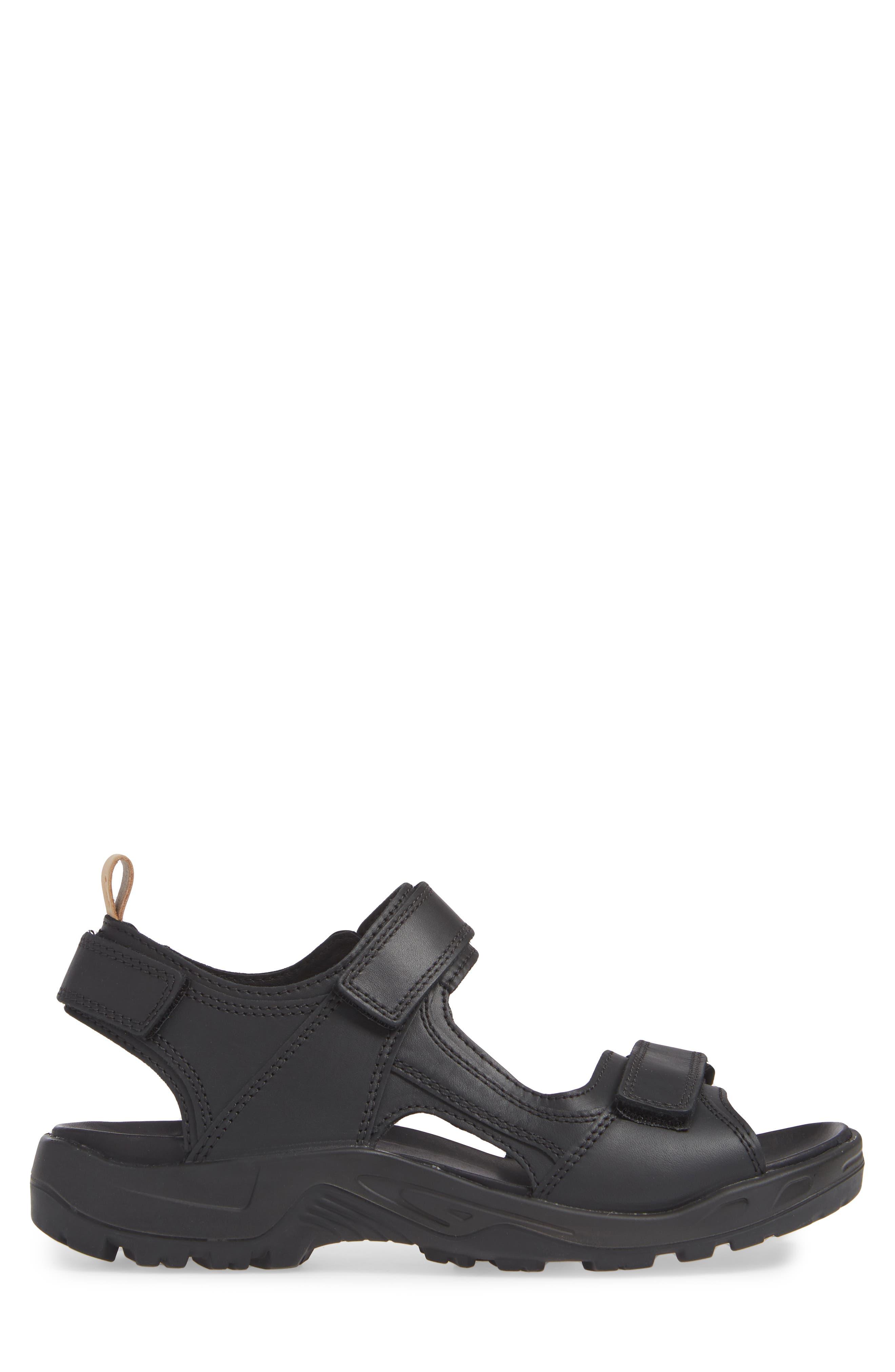 Premium Offroad Sandal,                             Alternate thumbnail 3, color,                             BLACK LEATHER