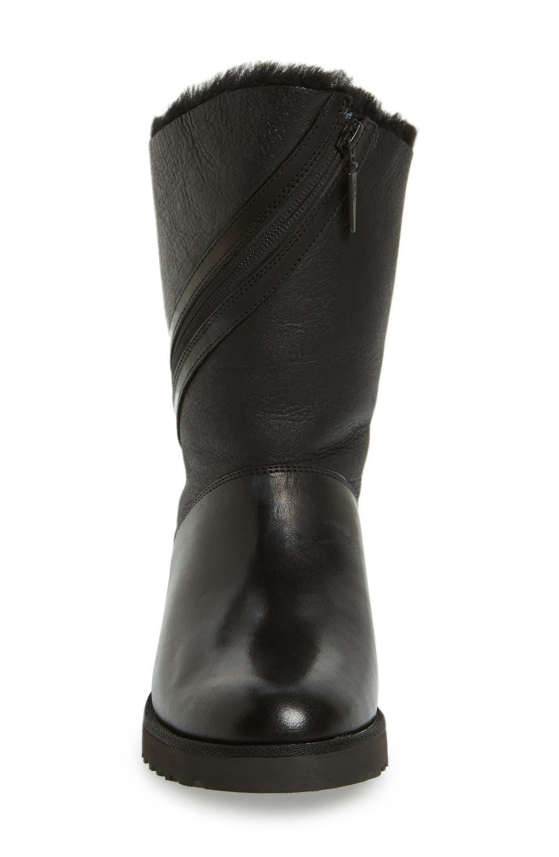 'Lorna' Wedge Boot,                             Alternate thumbnail 4, color,                             001