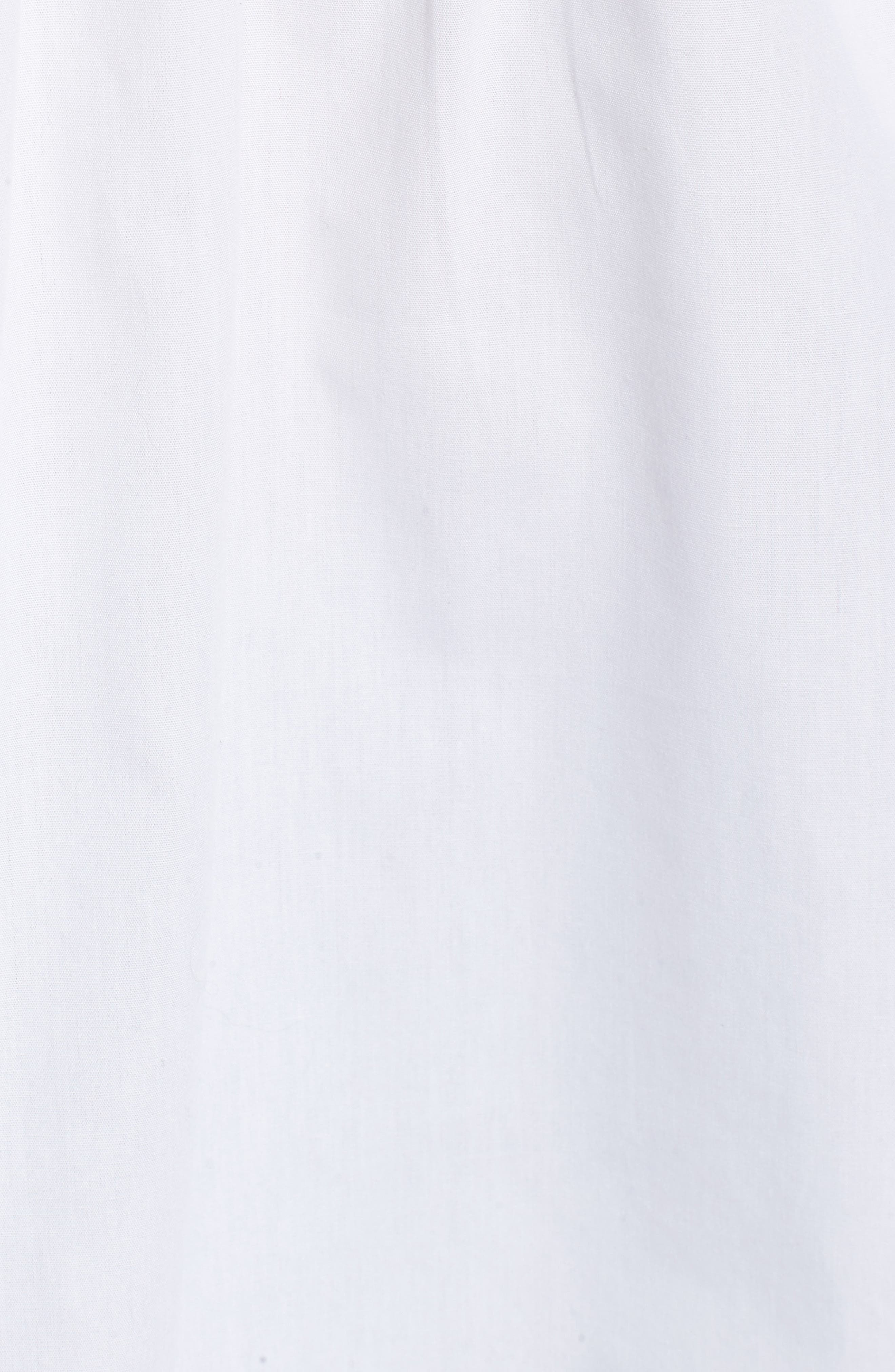 Tie Back Poplin Tunic,                             Alternate thumbnail 5, color,                             100