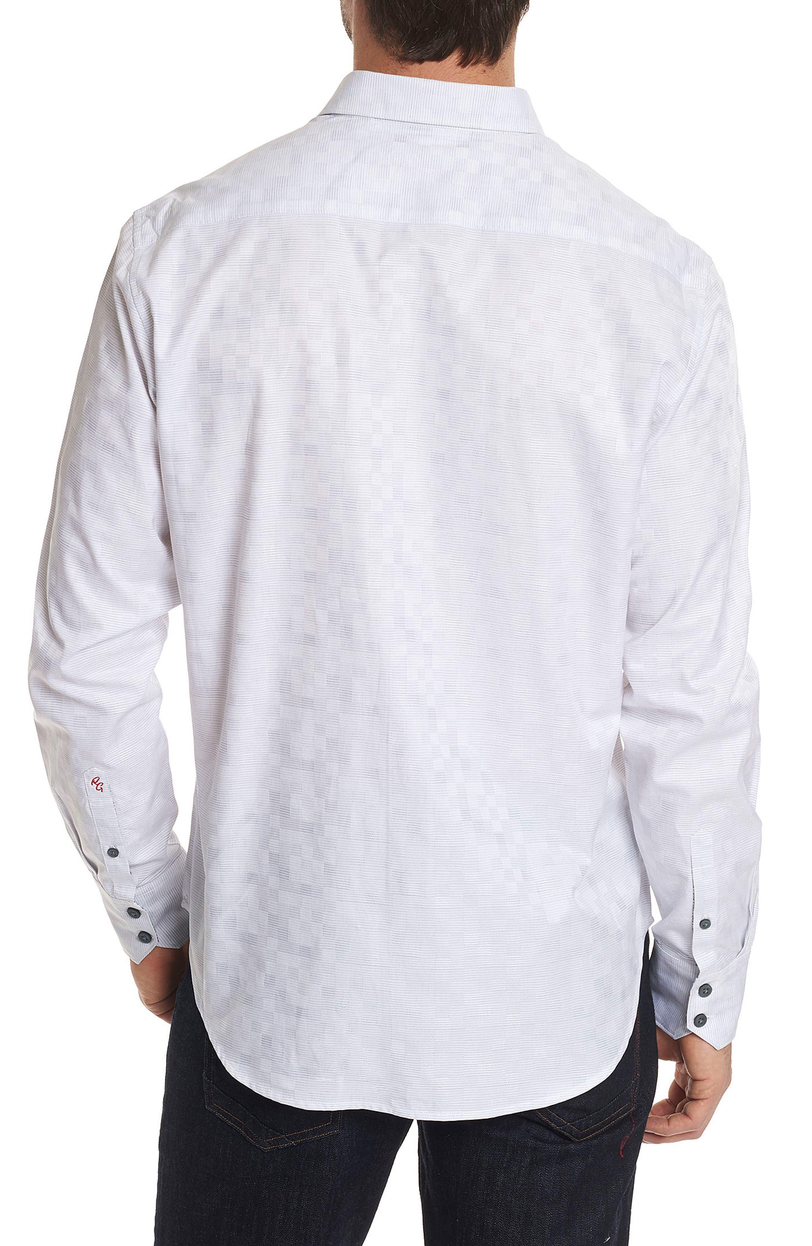 Transient Classic Fit Print Sport Shirt,                             Alternate thumbnail 2, color,                             WHITE