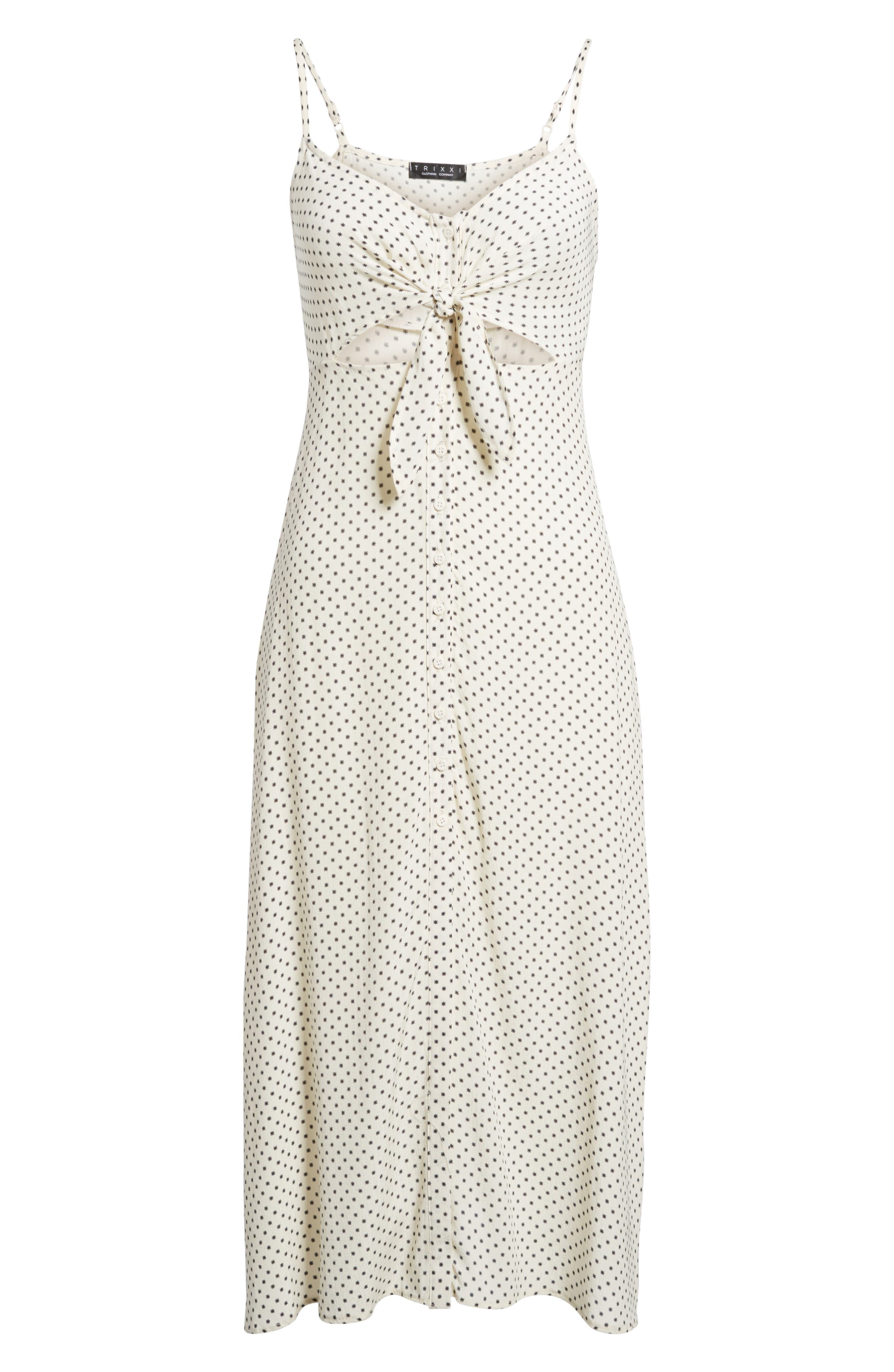 Tie Front Midi Dress,                             Alternate thumbnail 6, color,                             900