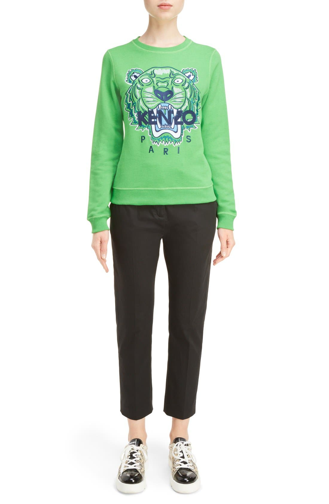 Embroidered Tiger Cotton Sweatshirt,                             Alternate thumbnail 6, color,                             311