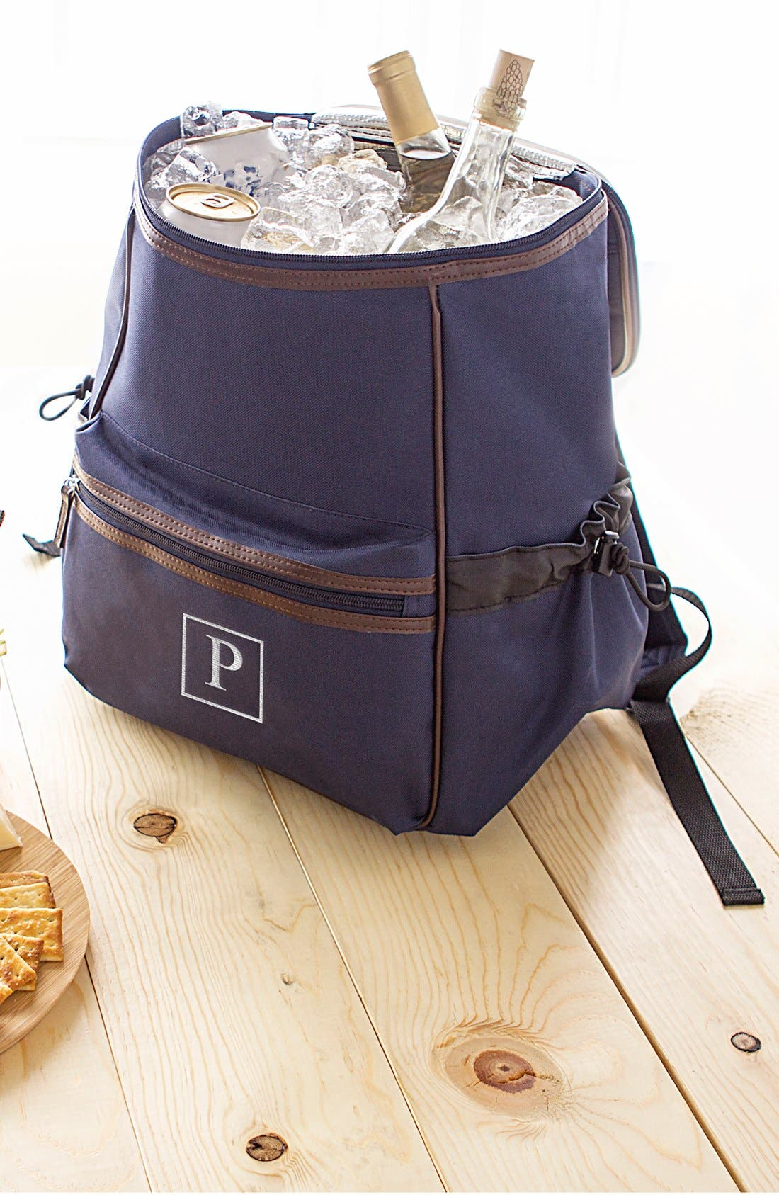 Monogram Insulated Backpack Cooler,                         Main,                         color, NAVY - P