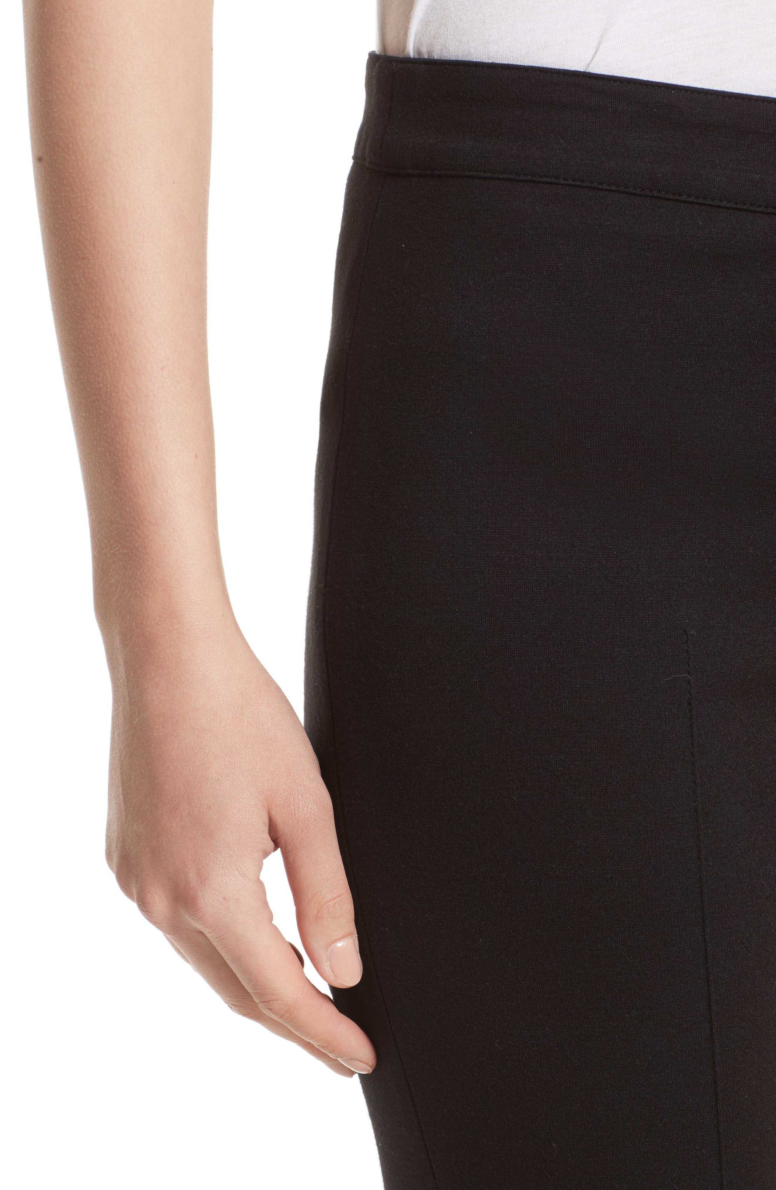 Stretch Jersey Pants,                             Alternate thumbnail 5, color,                             BLACK