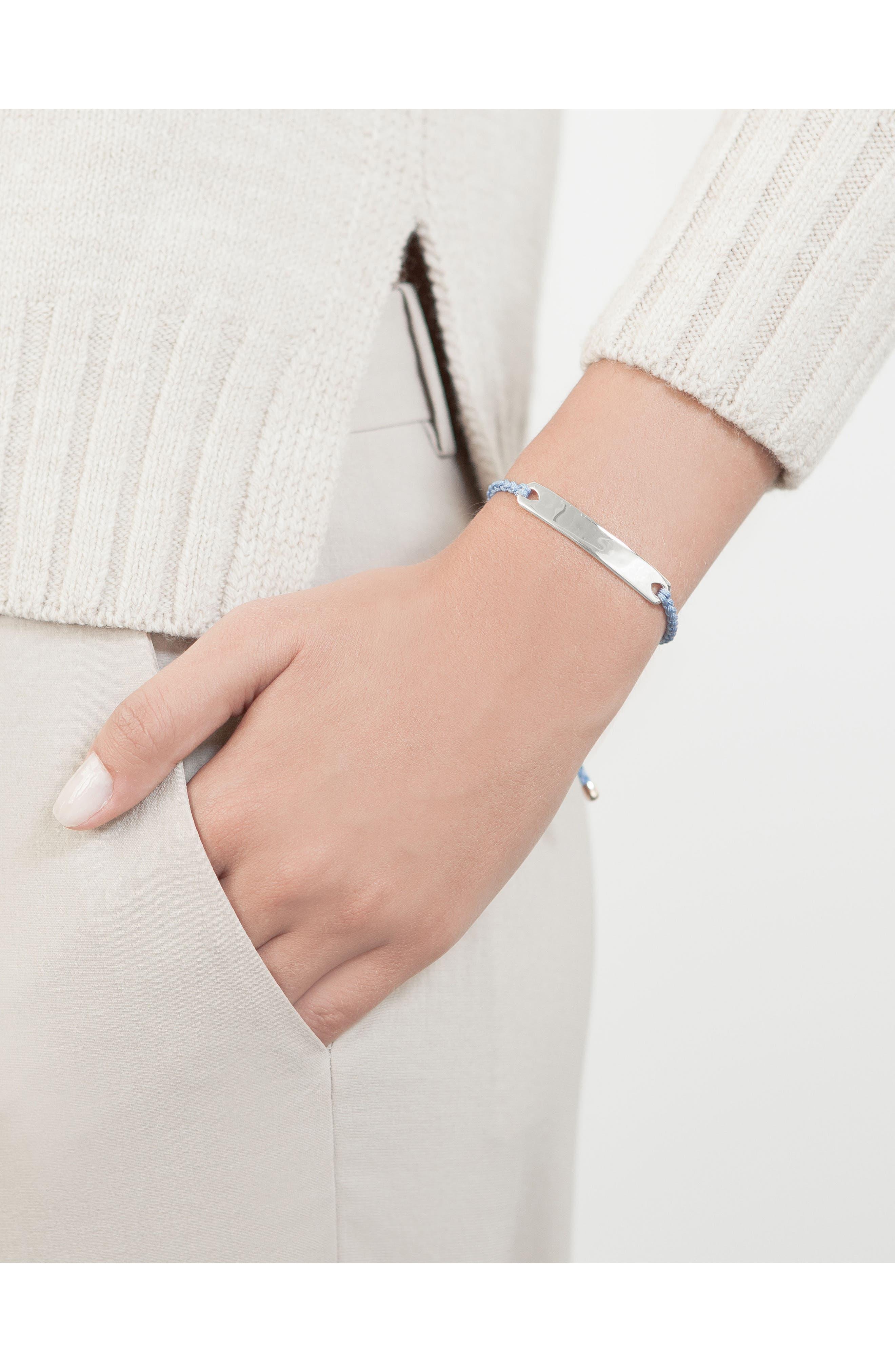 Engravable HavanaFriendship Bracelet,                             Alternate thumbnail 2, color,                             SILVER/ POWDER BLUE