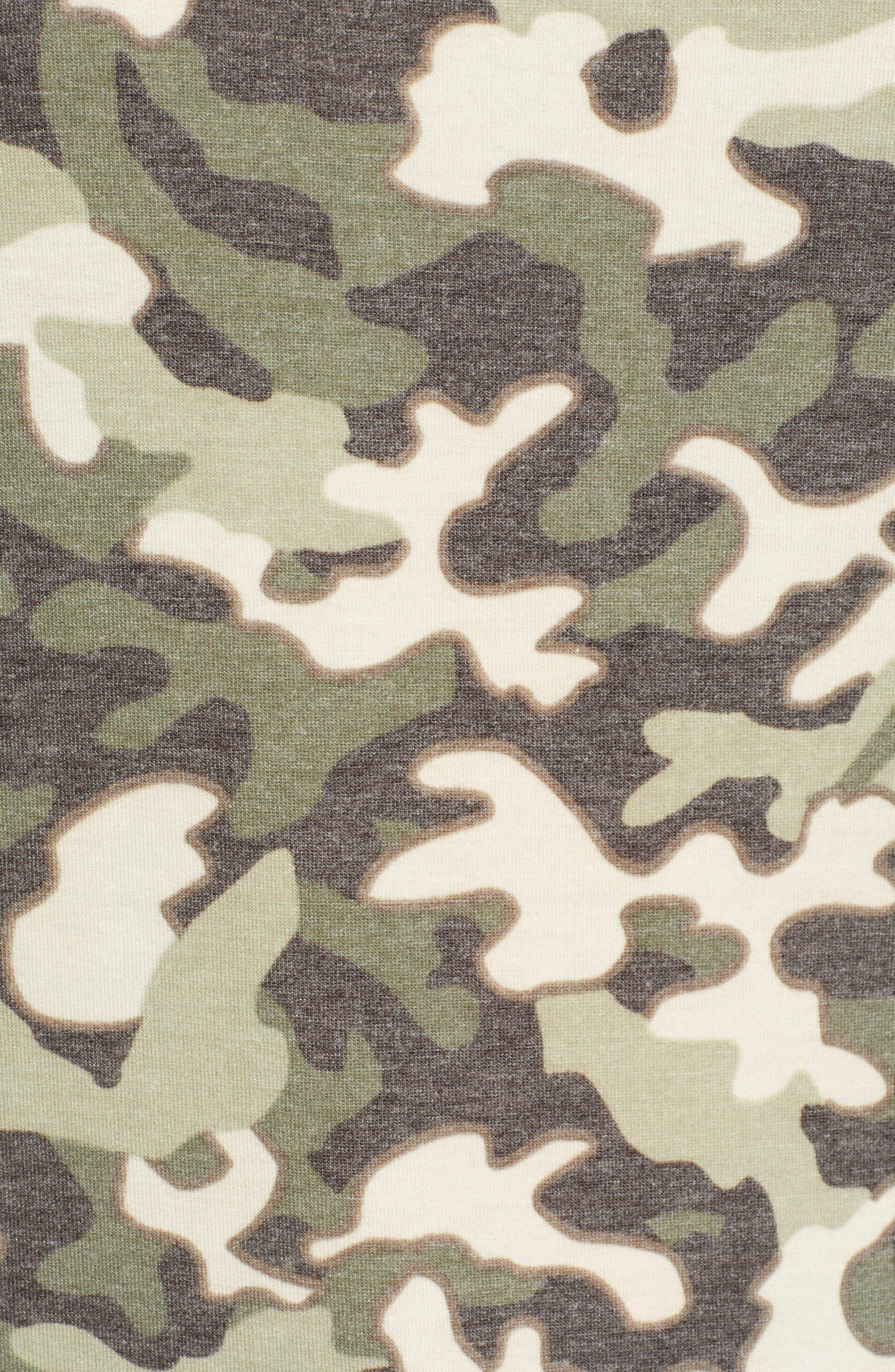 Floral Print Sweatshirt,                             Alternate thumbnail 5, color,                             300