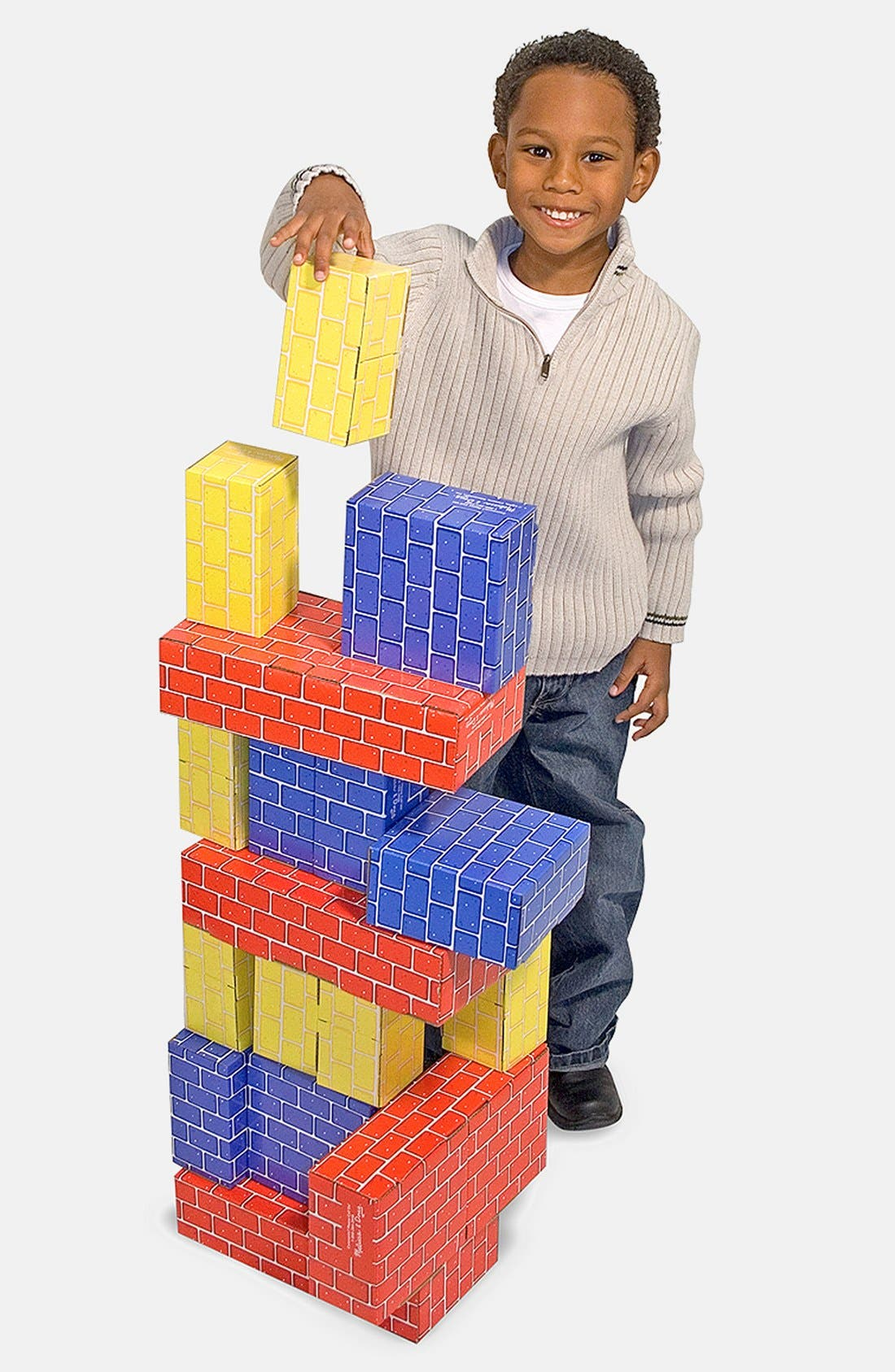 Cardboard Blocks,                             Main thumbnail 1, color,                             GREEN MULTI