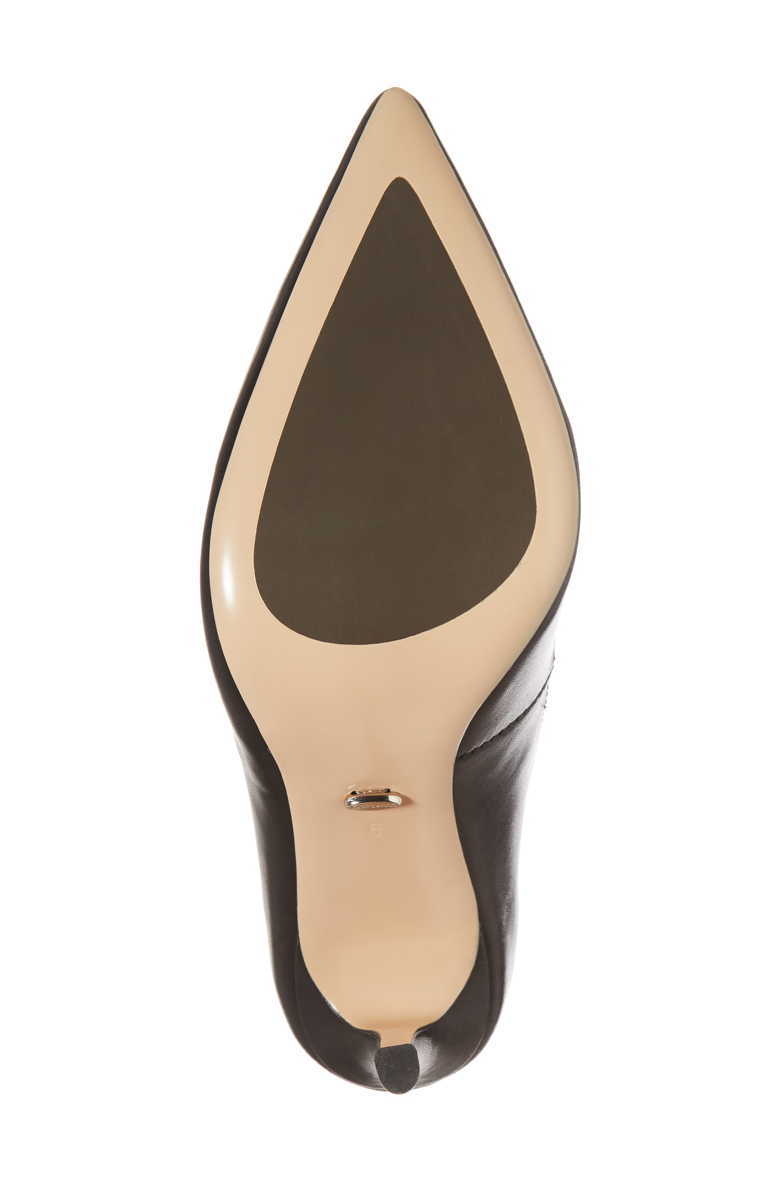 Lotus Pointy Toe Pump,                             Alternate thumbnail 6, color,                             001