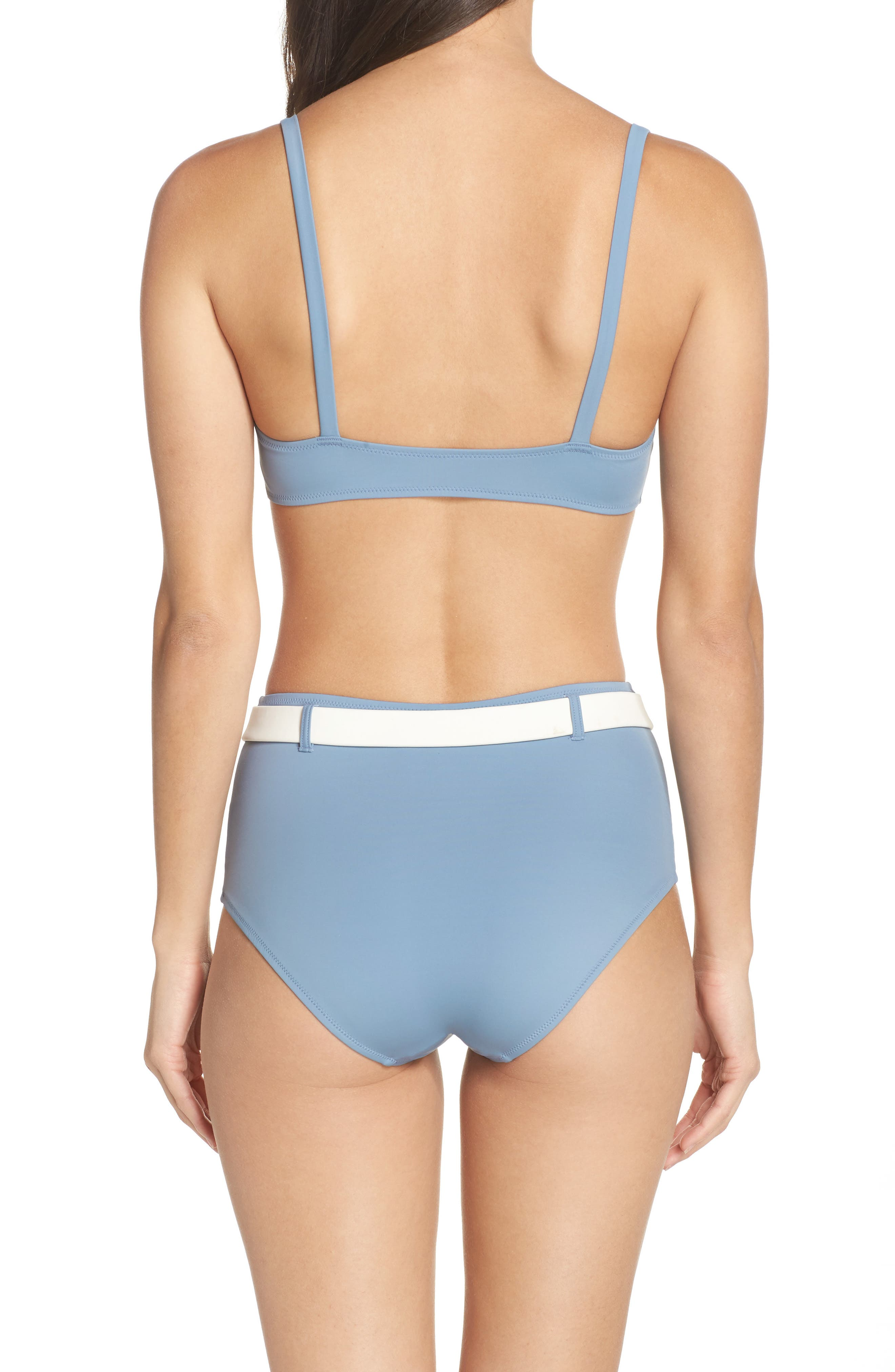 The Quinn Belted High Waist Bikini Bottoms,                             Alternate thumbnail 8, color,                             459
