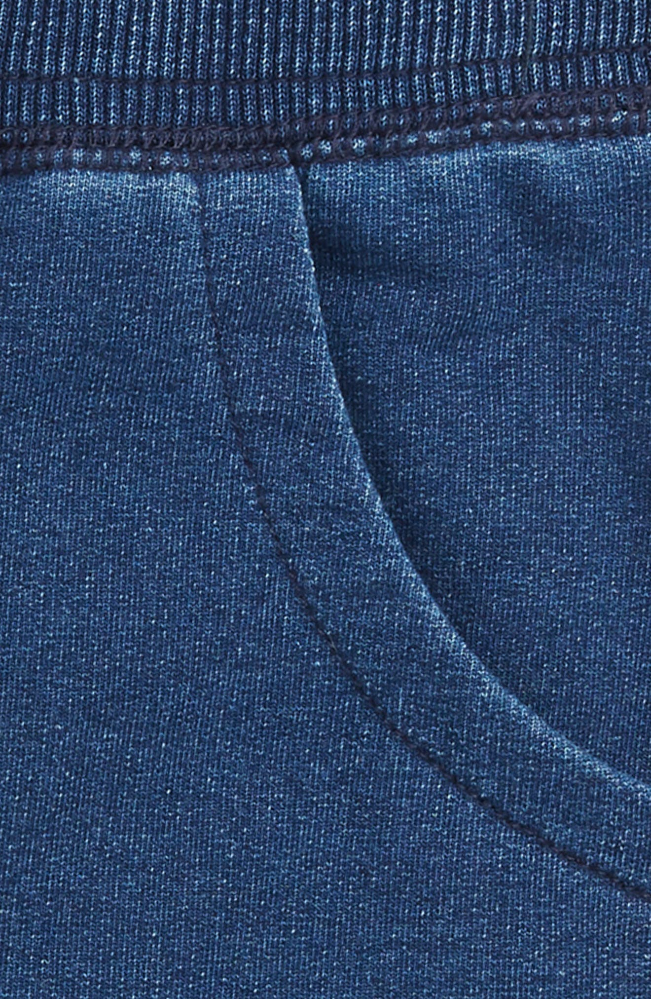 Stonewashed French Terry Shorts,                             Alternate thumbnail 3, color,                             MED STONE INDIGO