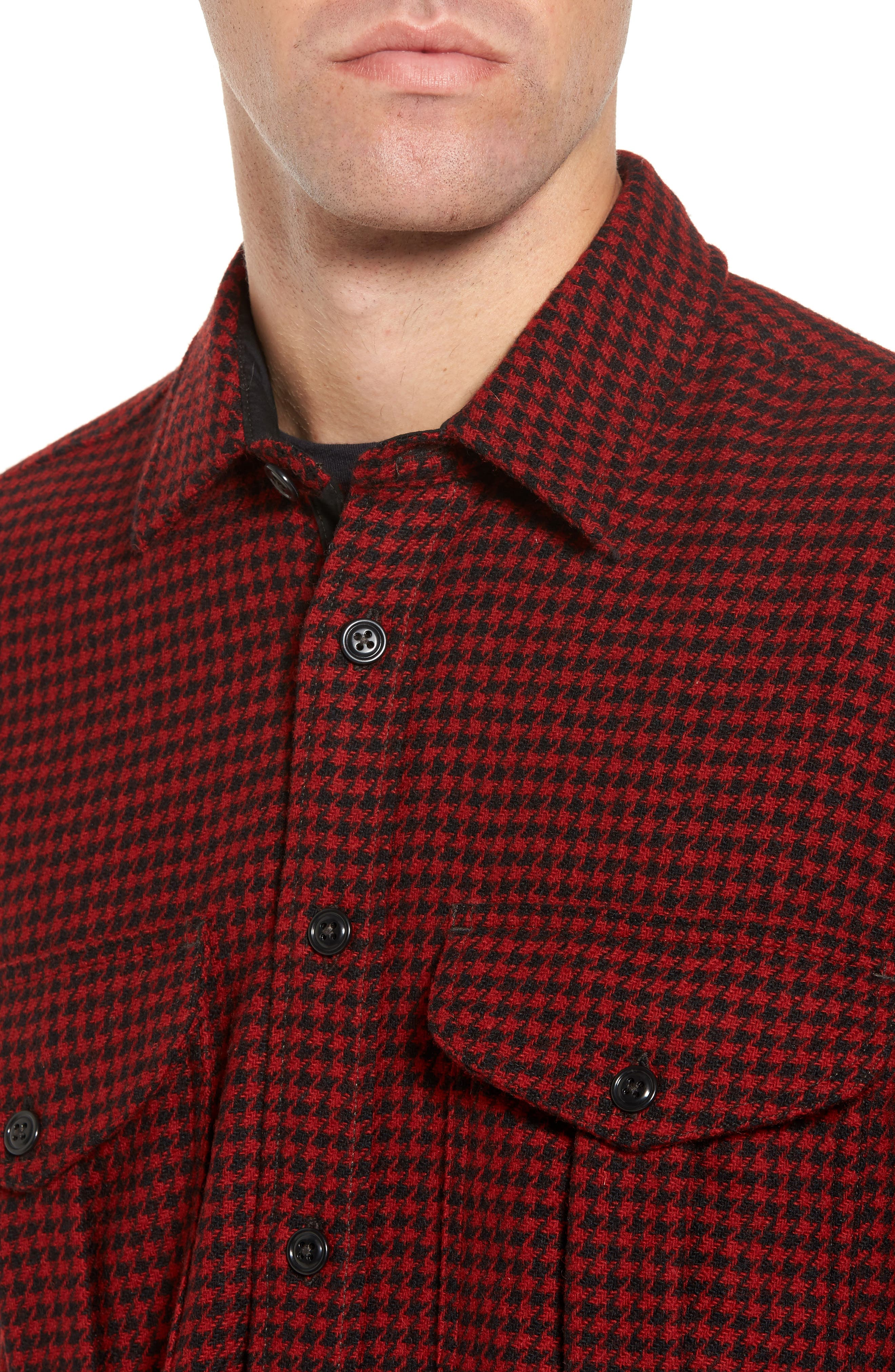 Northwest Houndstooth Shirt Jacket,                             Alternate thumbnail 4, color,                             645