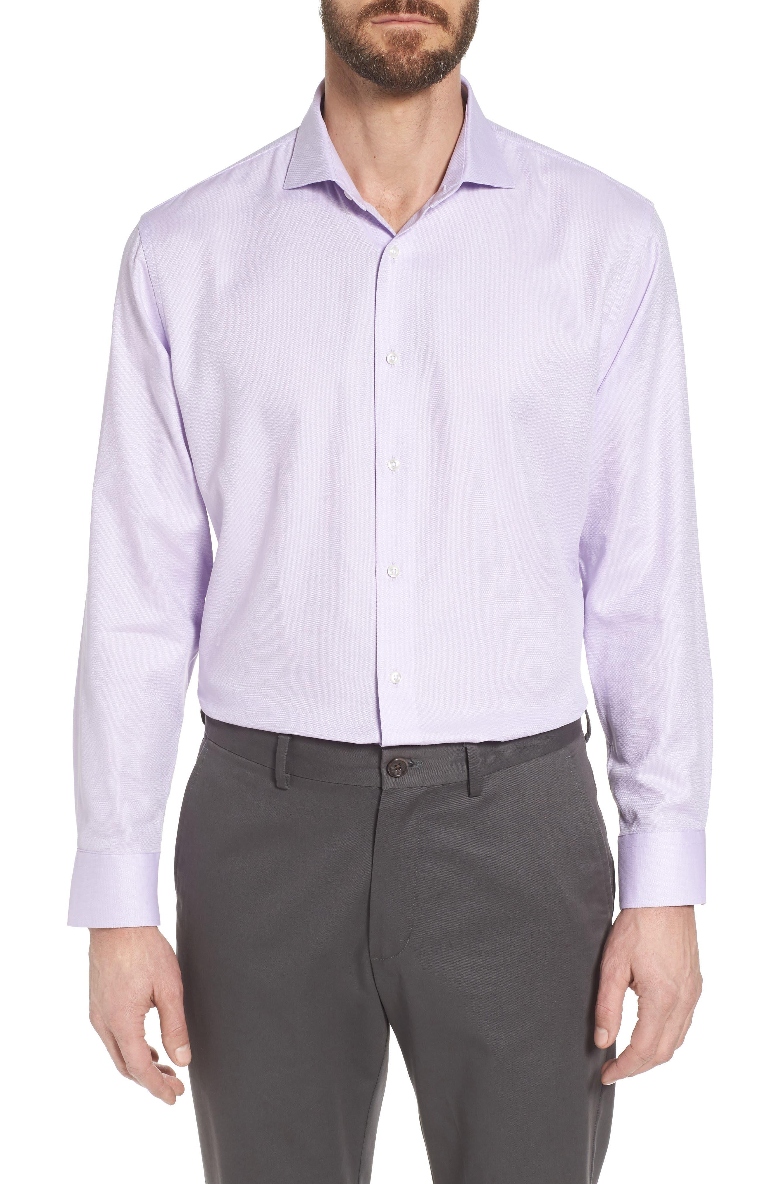 Trim Fit Solid Dress Shirt,                             Main thumbnail 1, color,                             530