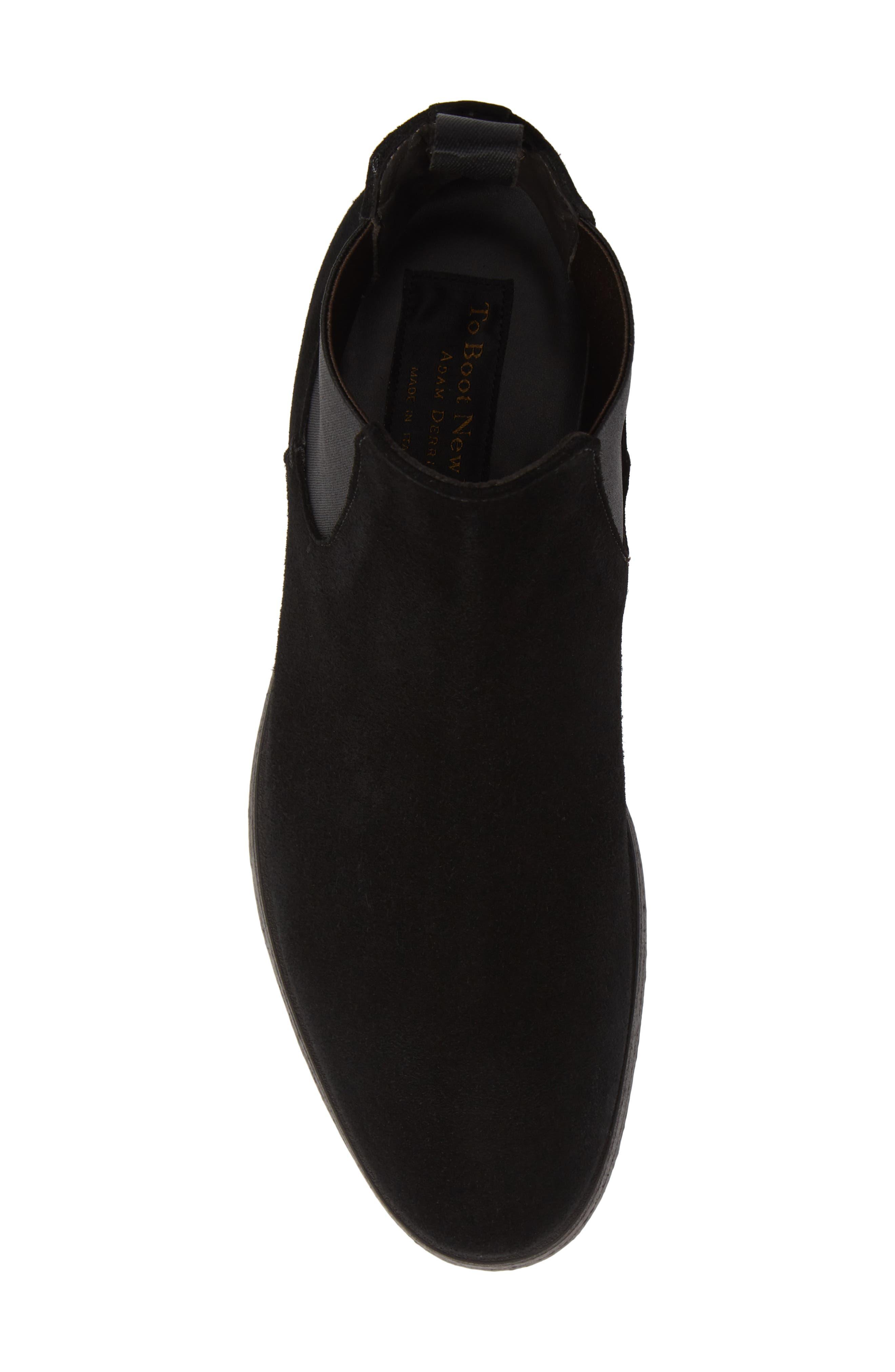 Caracas Chelsea Boot,                             Alternate thumbnail 5, color,                             BLACK SUEDE/ LEATHER