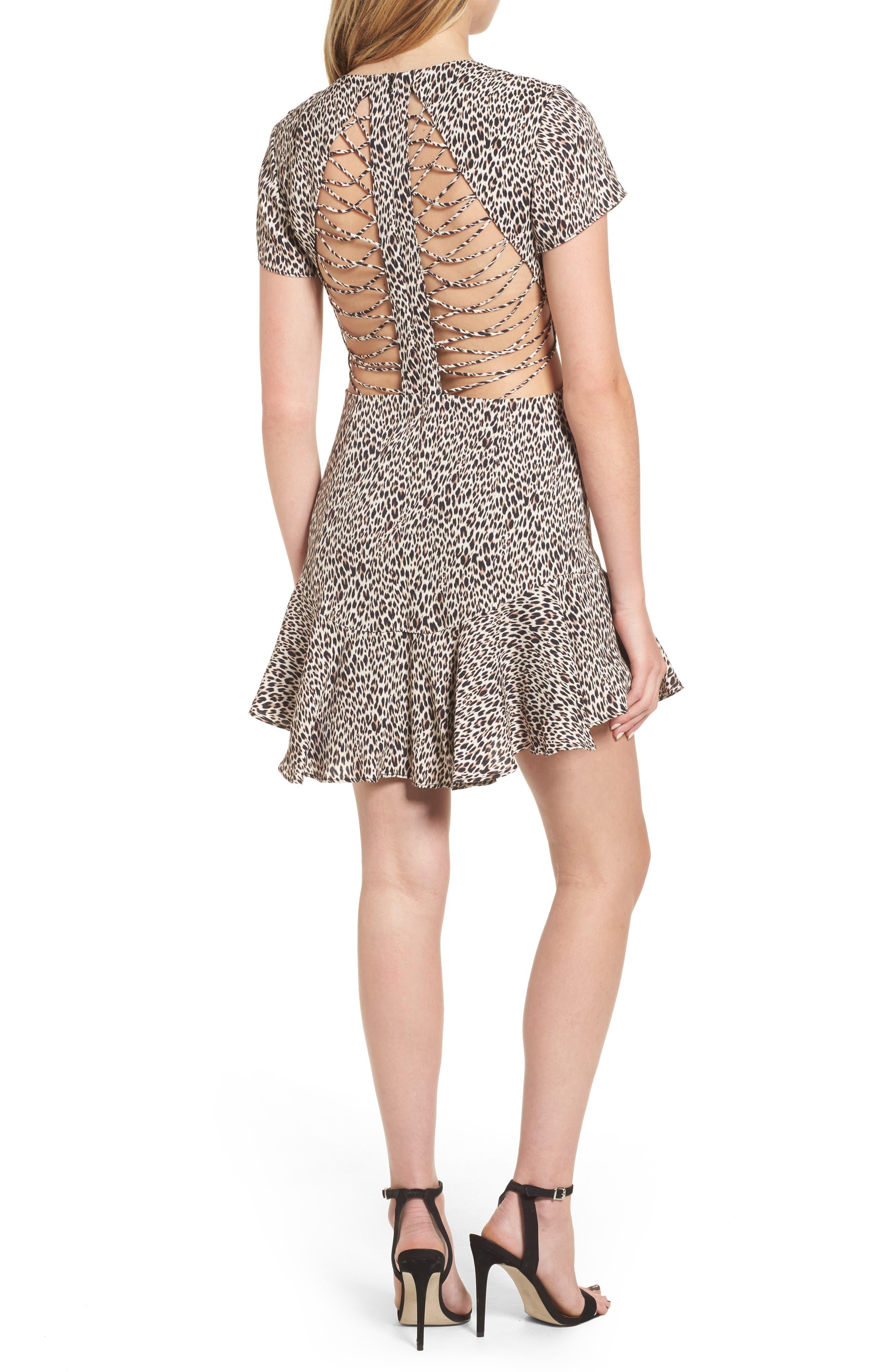 Chelsea Lattice Back Fit & Flare Dress,                             Alternate thumbnail 7, color,