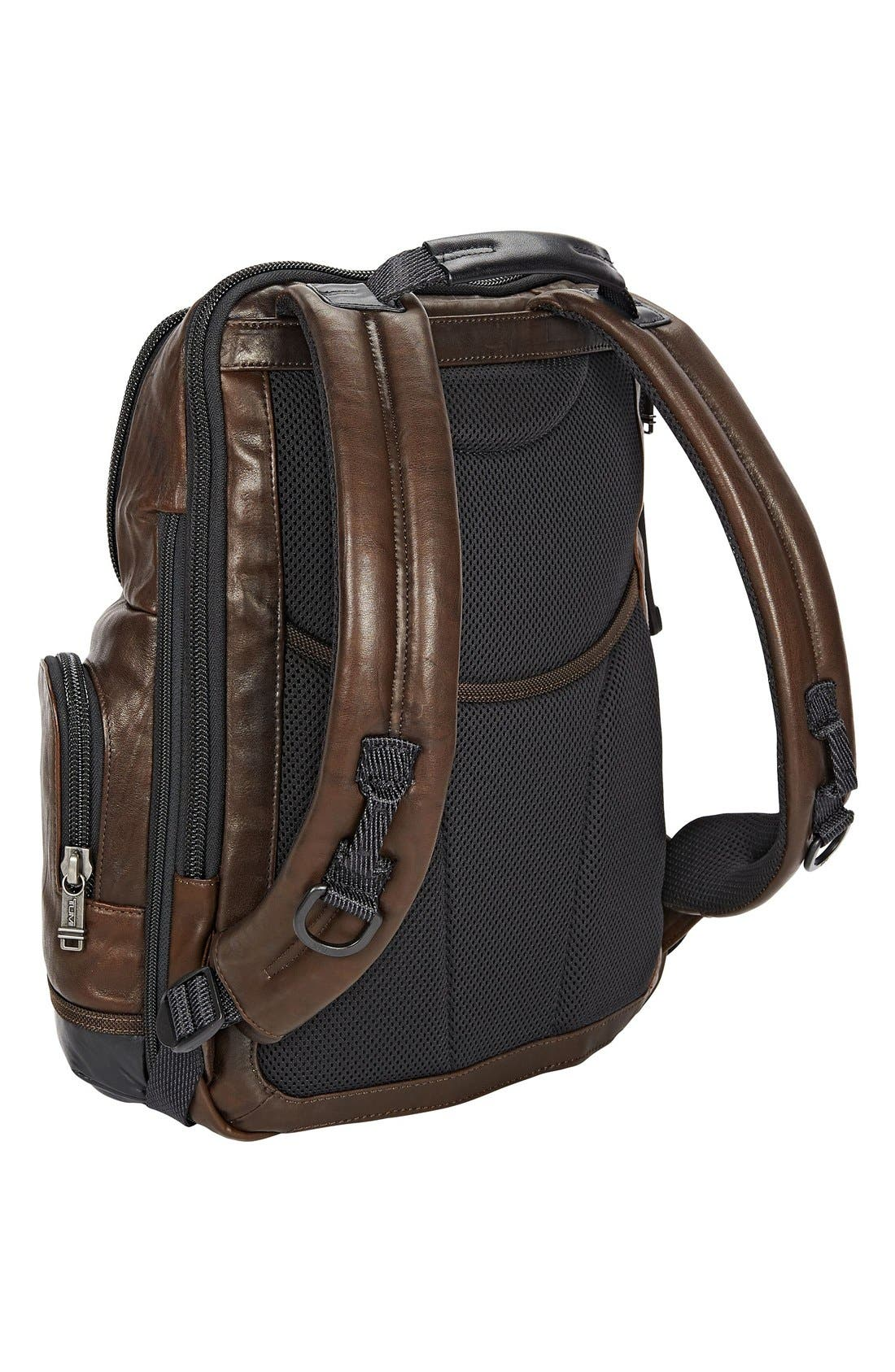 'Bravo - Knox' Leather Backpack,                             Alternate thumbnail 6, color,                             204