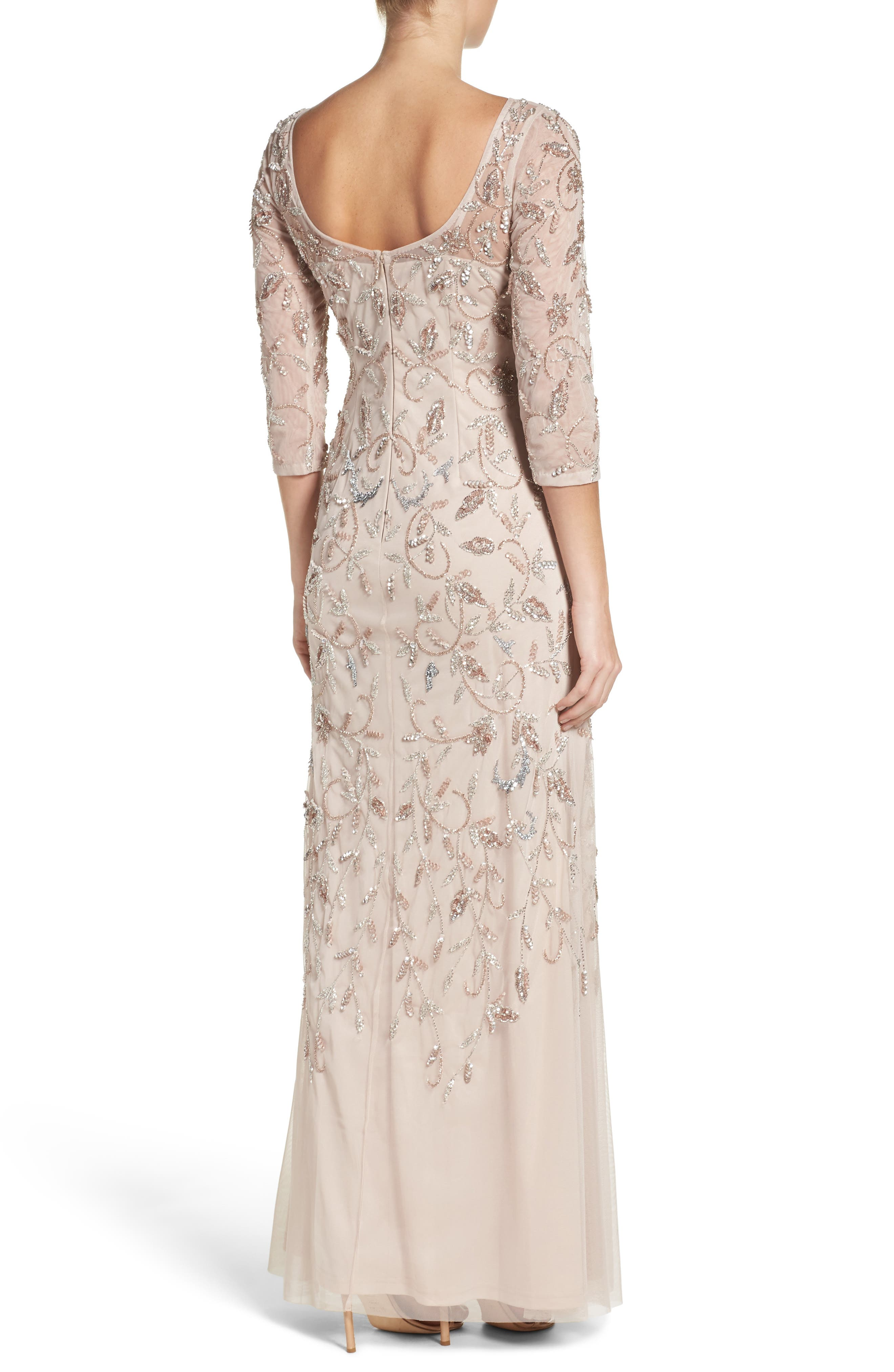 Beaded A-Line Gown,                             Alternate thumbnail 4, color,