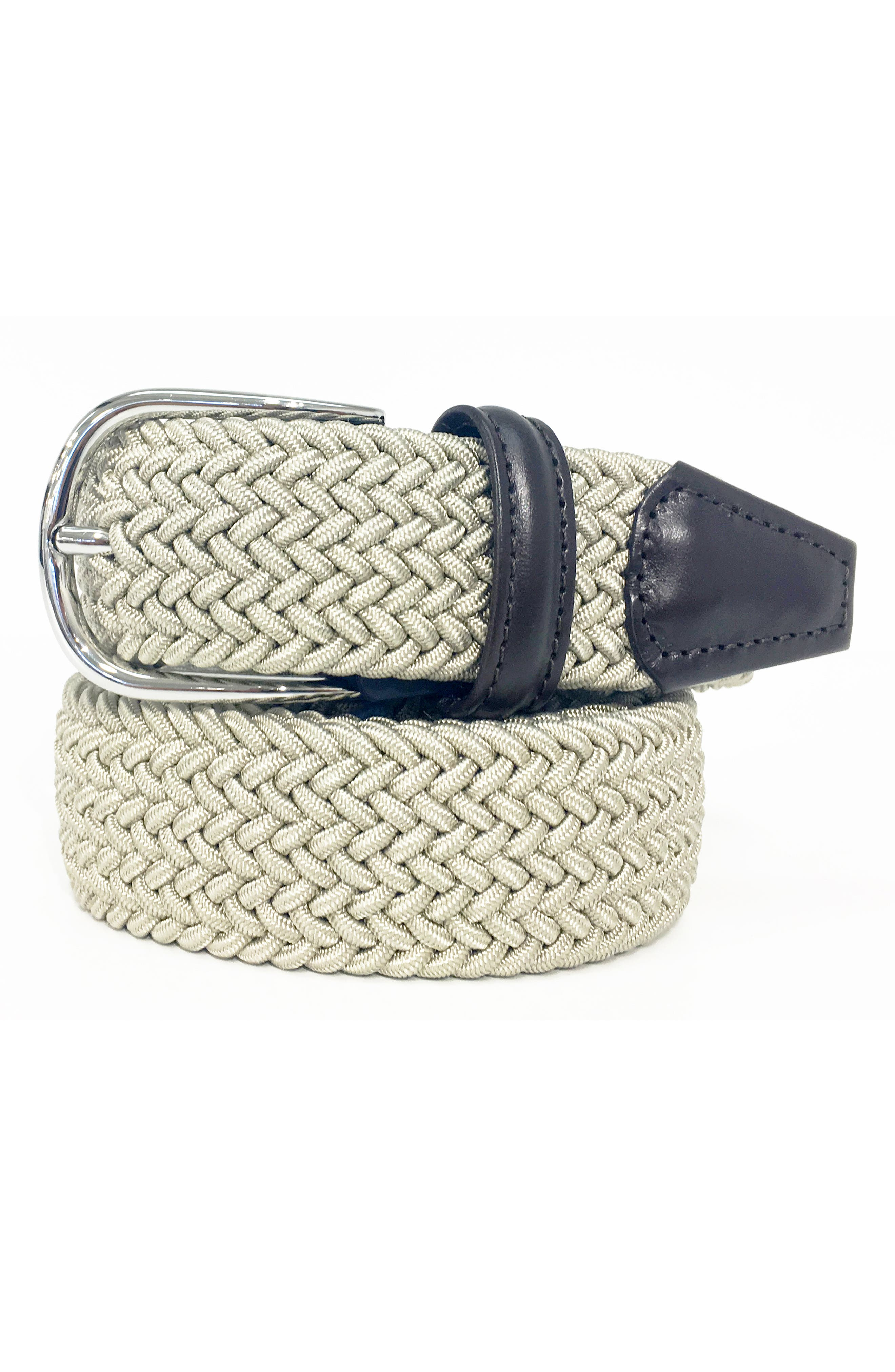 ANDERSONS Basic Stretch Woven Belt in Tan