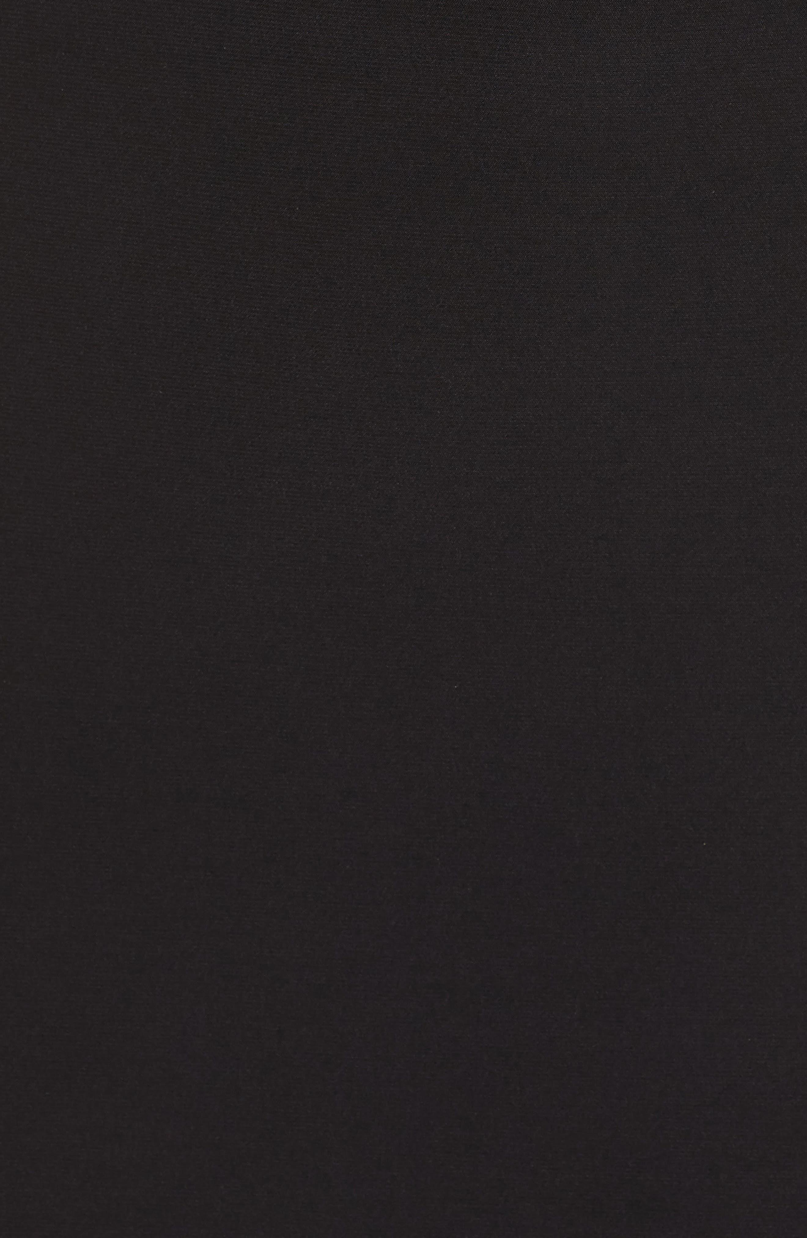 Sequin Halter Gown,                             Alternate thumbnail 5, color,                             BLACK/ NUDE