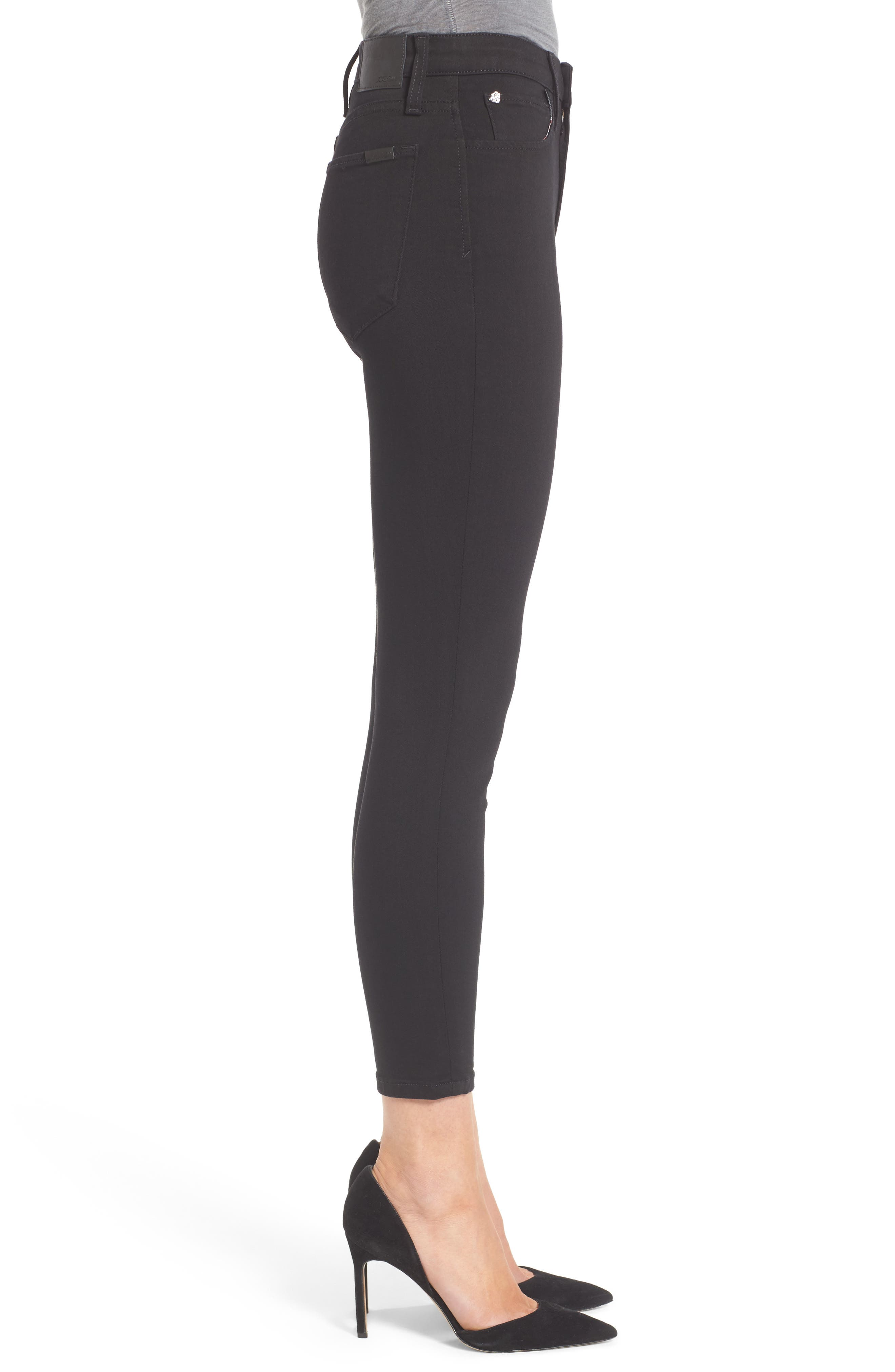 Charlie High Rise Crop Skinny Jeans,                             Alternate thumbnail 3, color,                             004