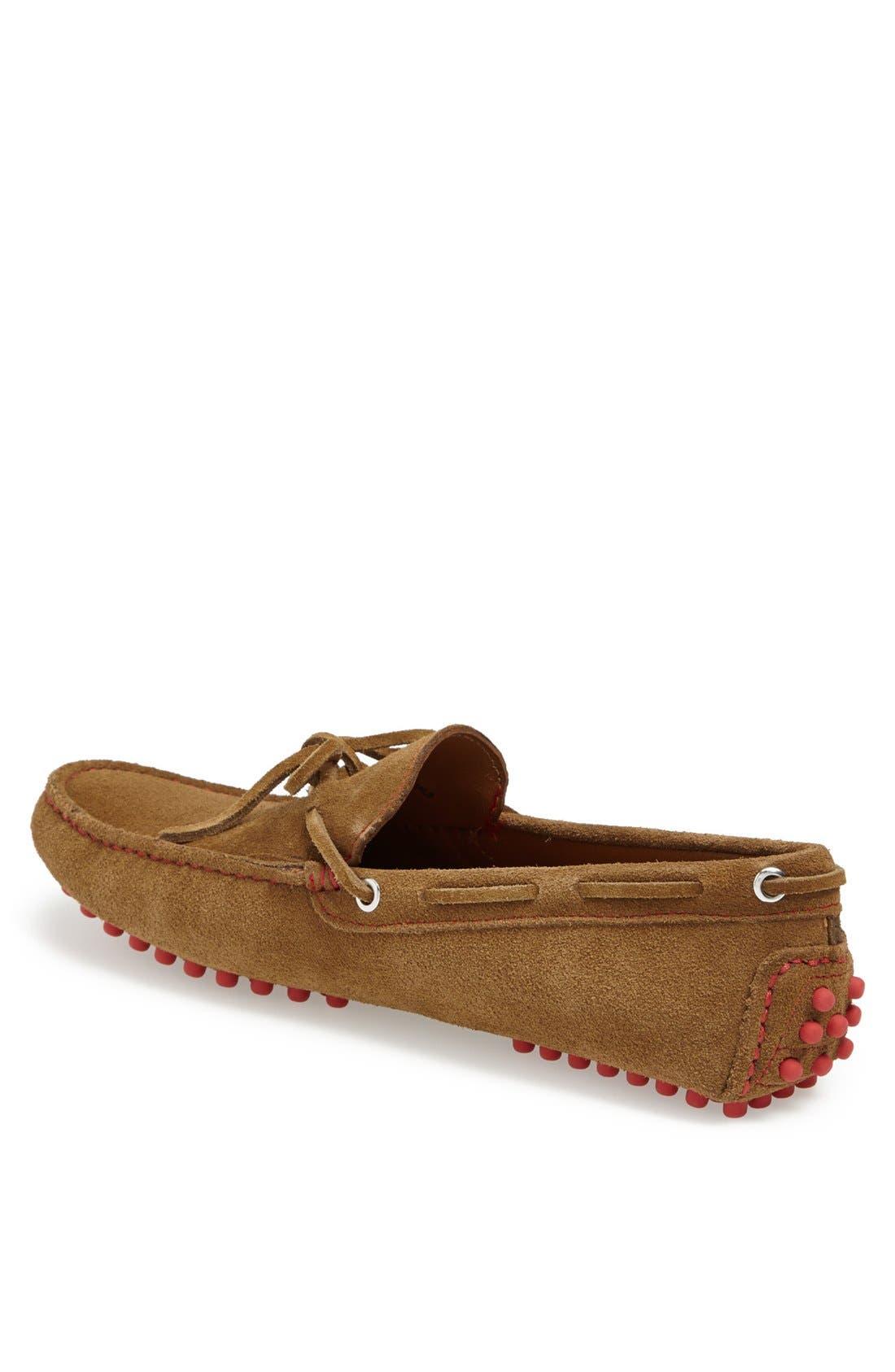 'Capri' Suede Driving Shoe,                             Alternate thumbnail 4, color,                             205