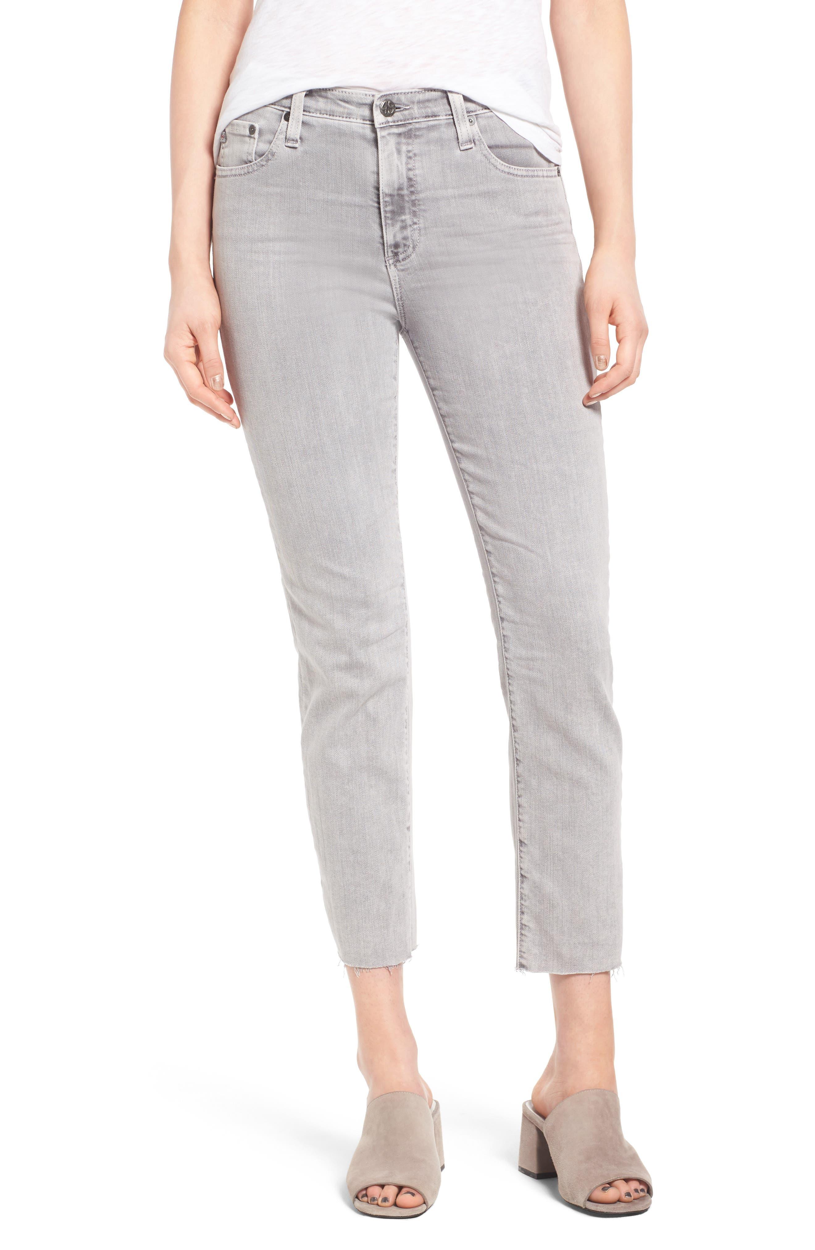 The Isabelle High Waist Crop Straight Leg Jeans,                             Main thumbnail 1, color,                             033
