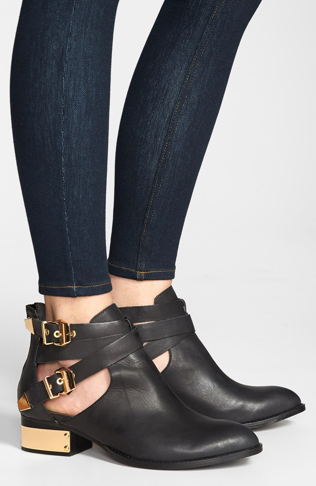 JEFFREY CAMPBELL,                             'Everly' Bootie,                             Alternate thumbnail 5, color,                             002