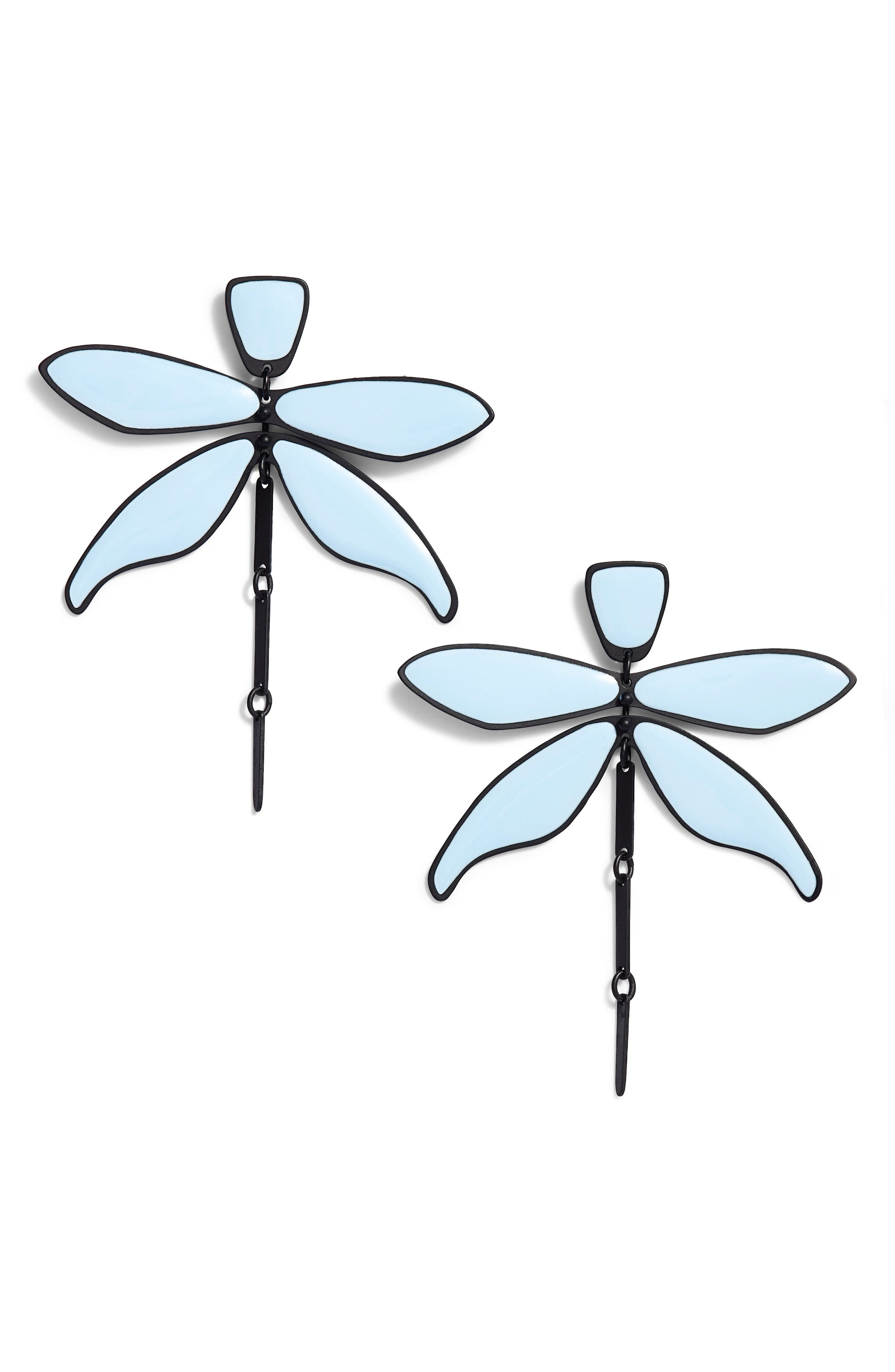 Articulated Dragonfly Earrings,                         Main,                         color,