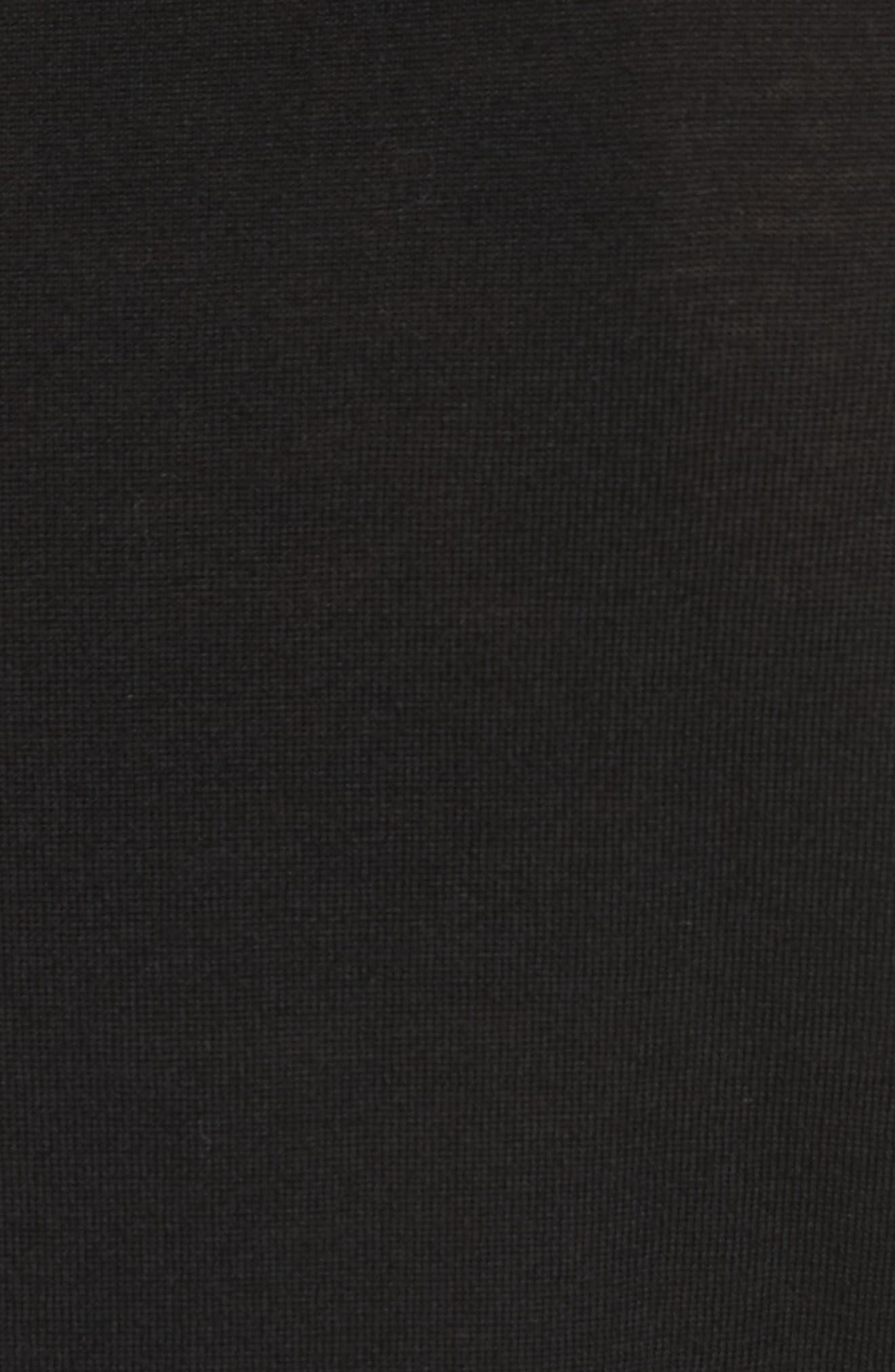 Circle Merino Wool Blend Sweater,                             Alternate thumbnail 5, color,                             001