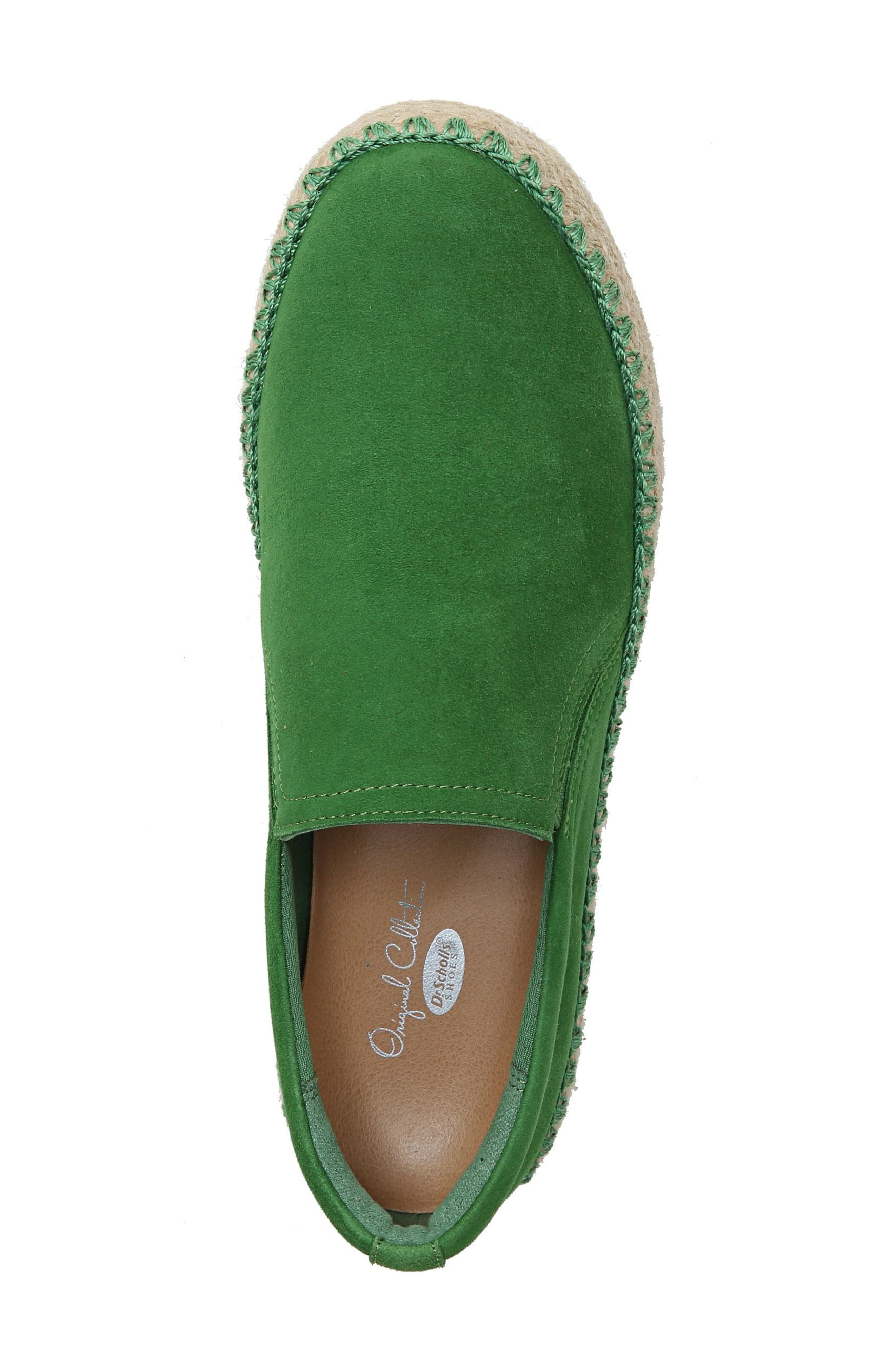Sunnie Slip-On Sneaker,                             Alternate thumbnail 5, color,                             GREEN SUEDE