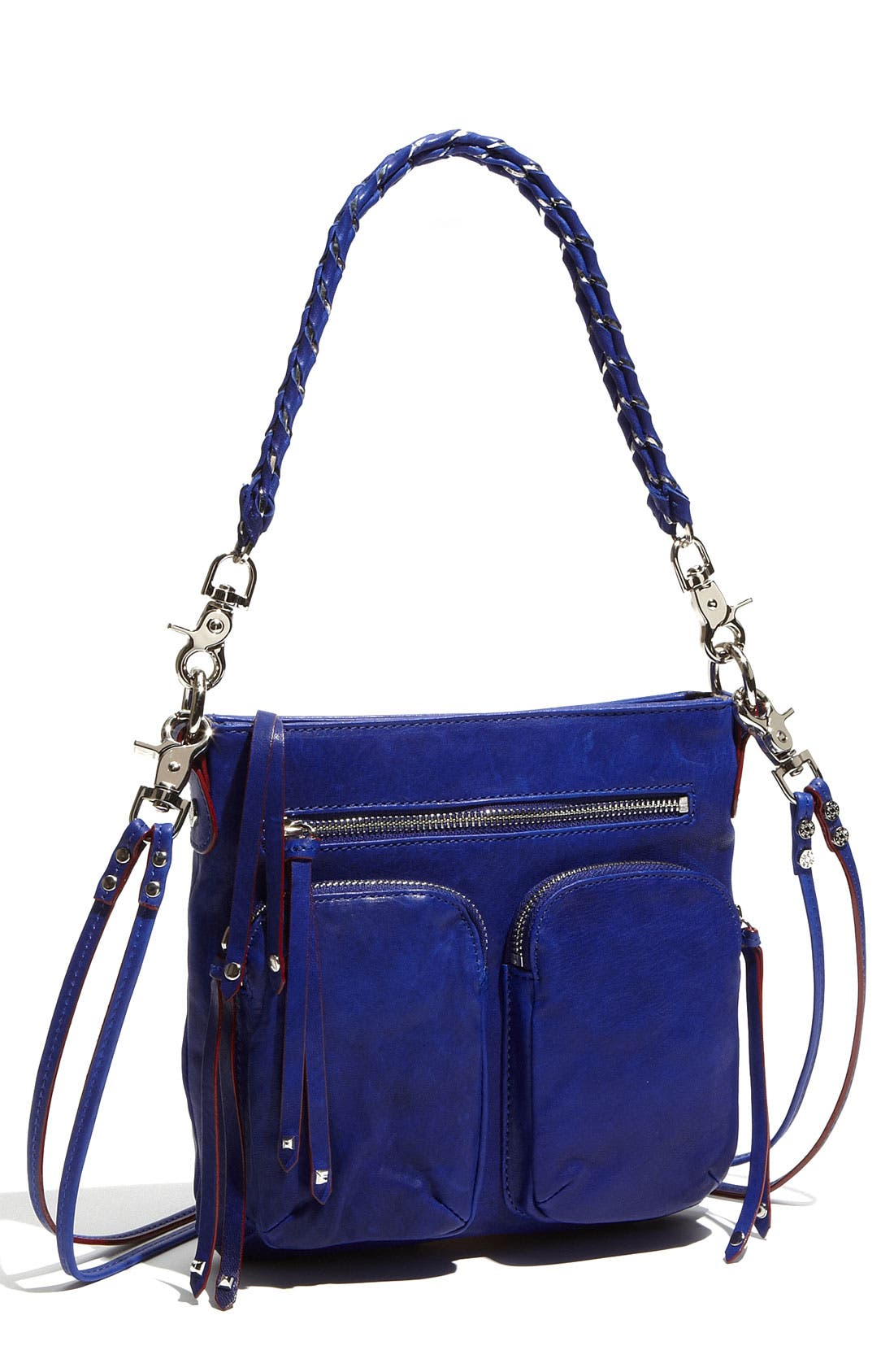 'Sophie' Leather Crossbody Bag, Main, color, 420