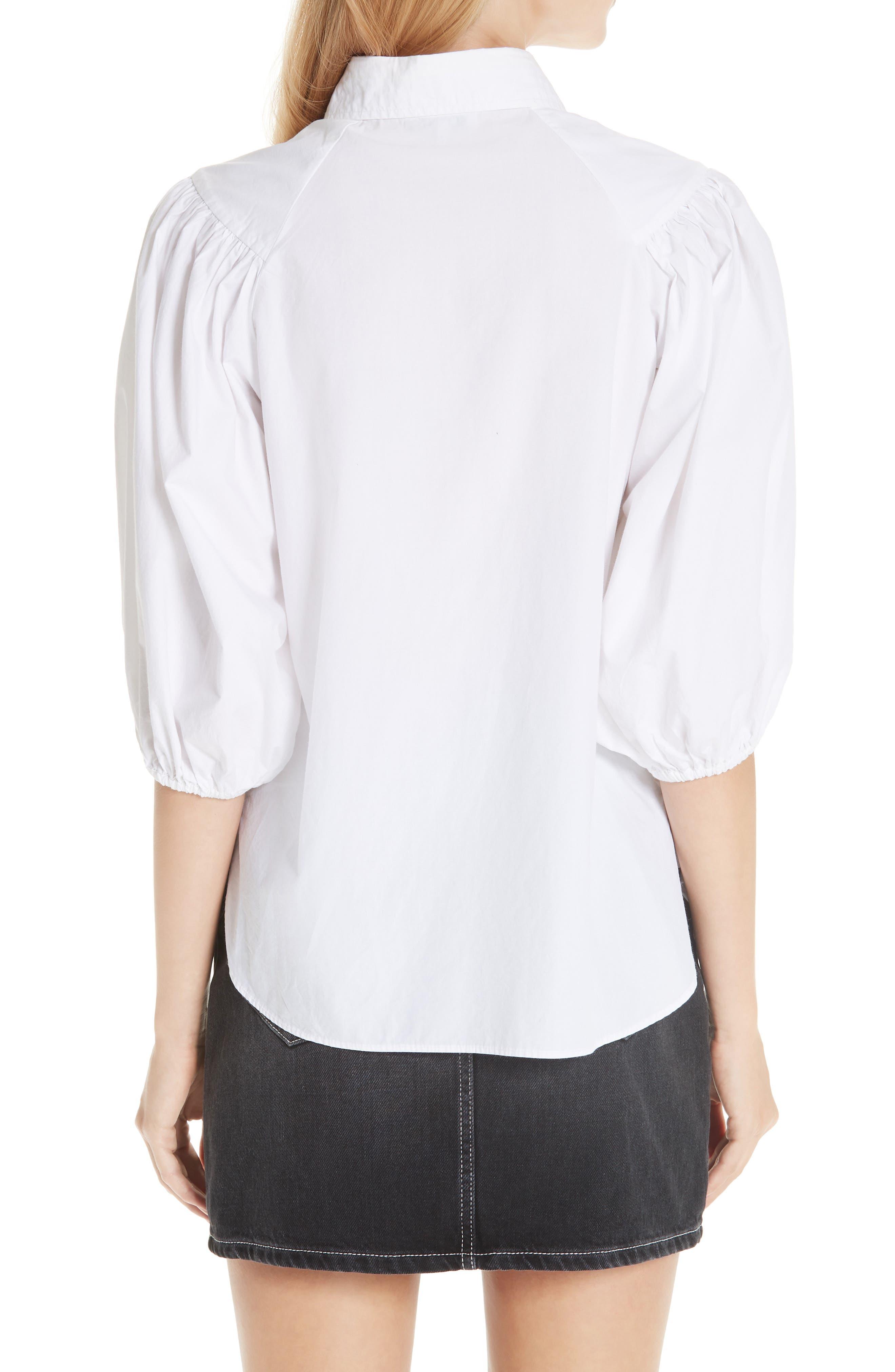 Cotton Poplin Shirt,                             Alternate thumbnail 2, color,                             BRIGHT WHITE 151