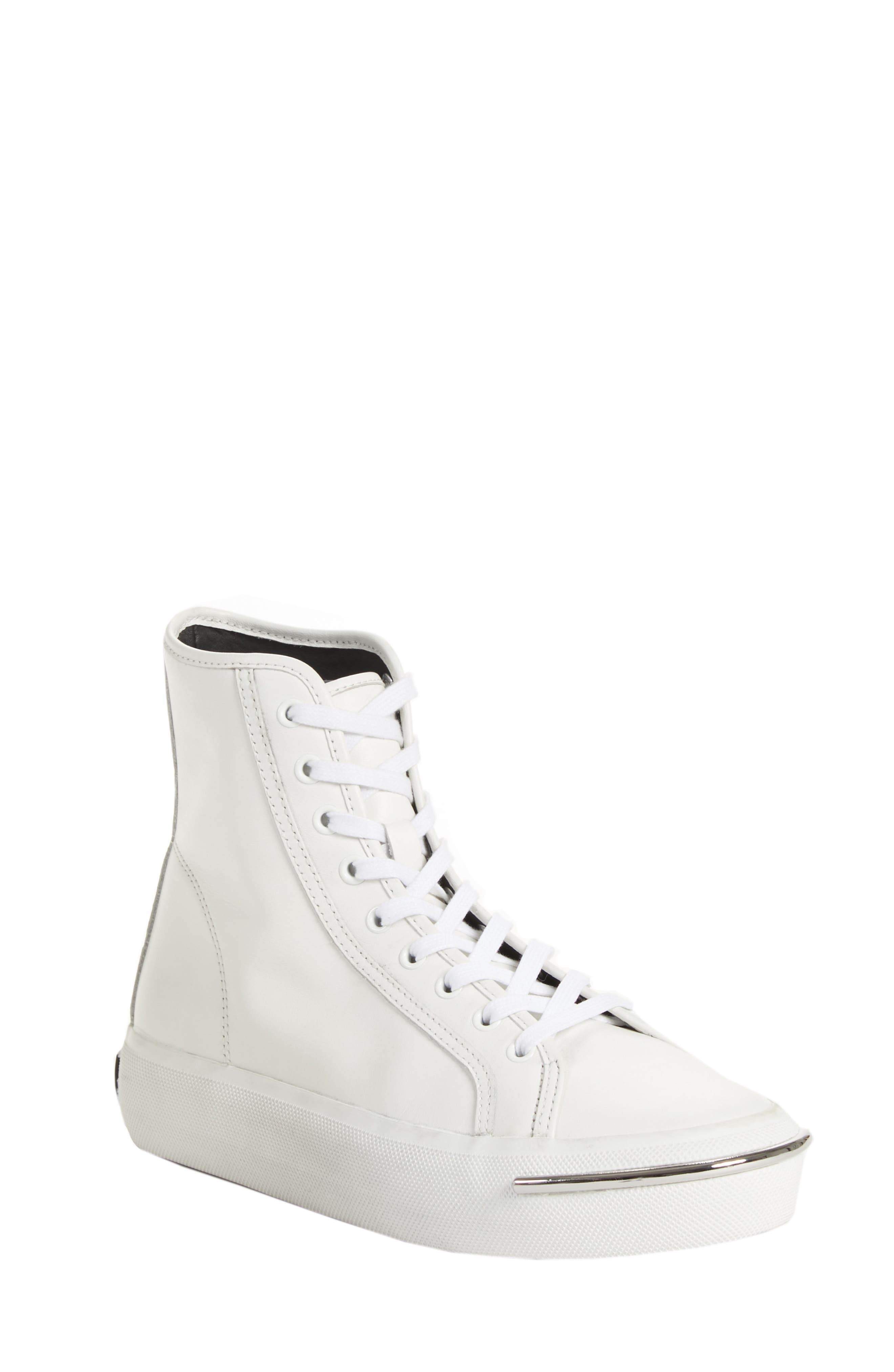 Alexander Wang Pia High Top Sneaker, White