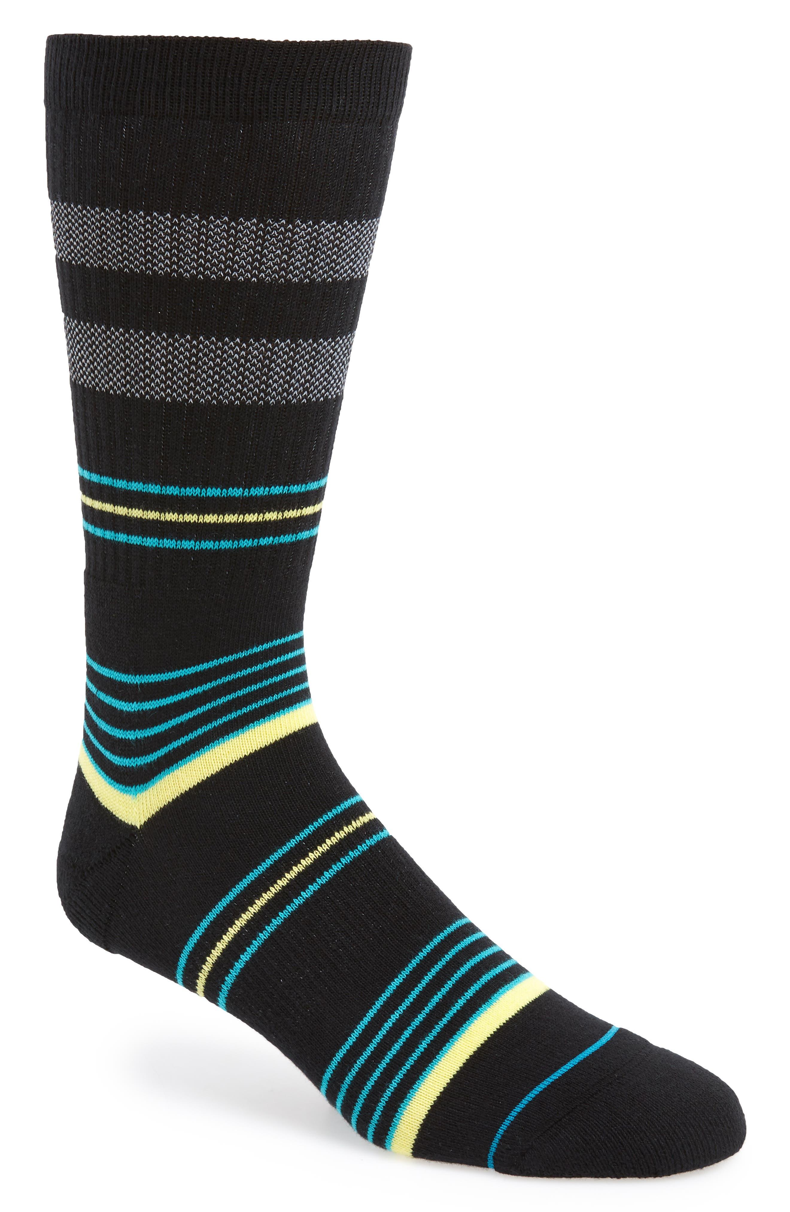 STANCE,                             Reda Stripe Socks,                             Main thumbnail 1, color,                             001