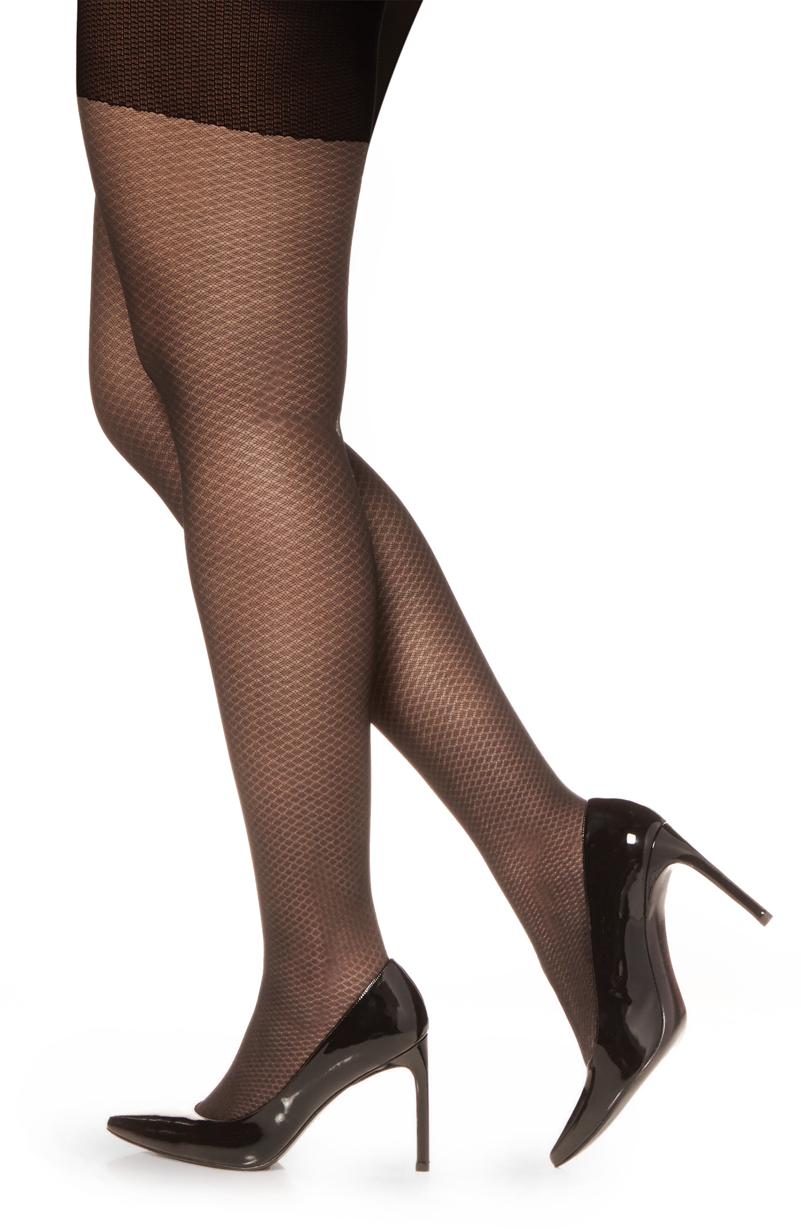 Easy On Control Top Tights,                             Alternate thumbnail 2, color,                             FANTASY BLACK
