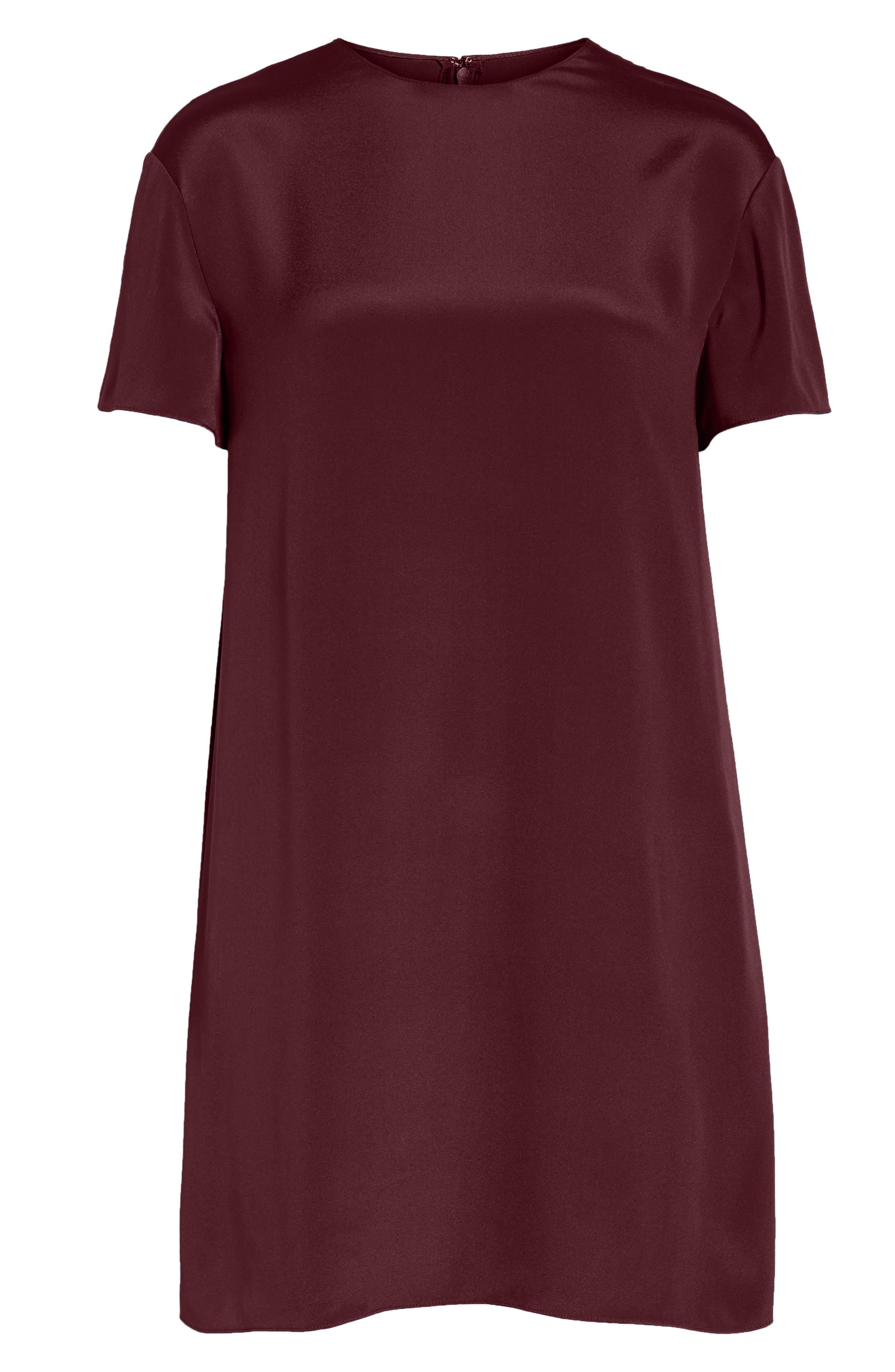 Silk Shift Dress,                             Alternate thumbnail 7, color,                             930