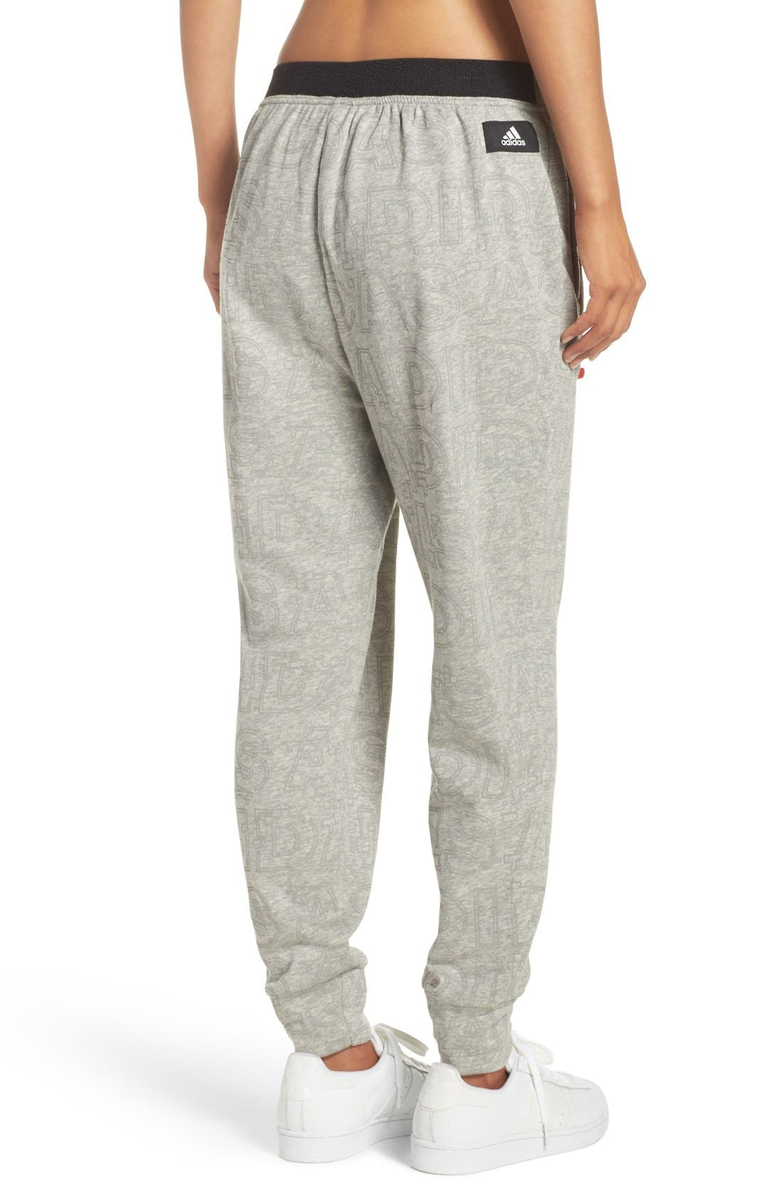 ADIDAS,                             Boyfriend Lounge Pants,                             Alternate thumbnail 4, color,                             035
