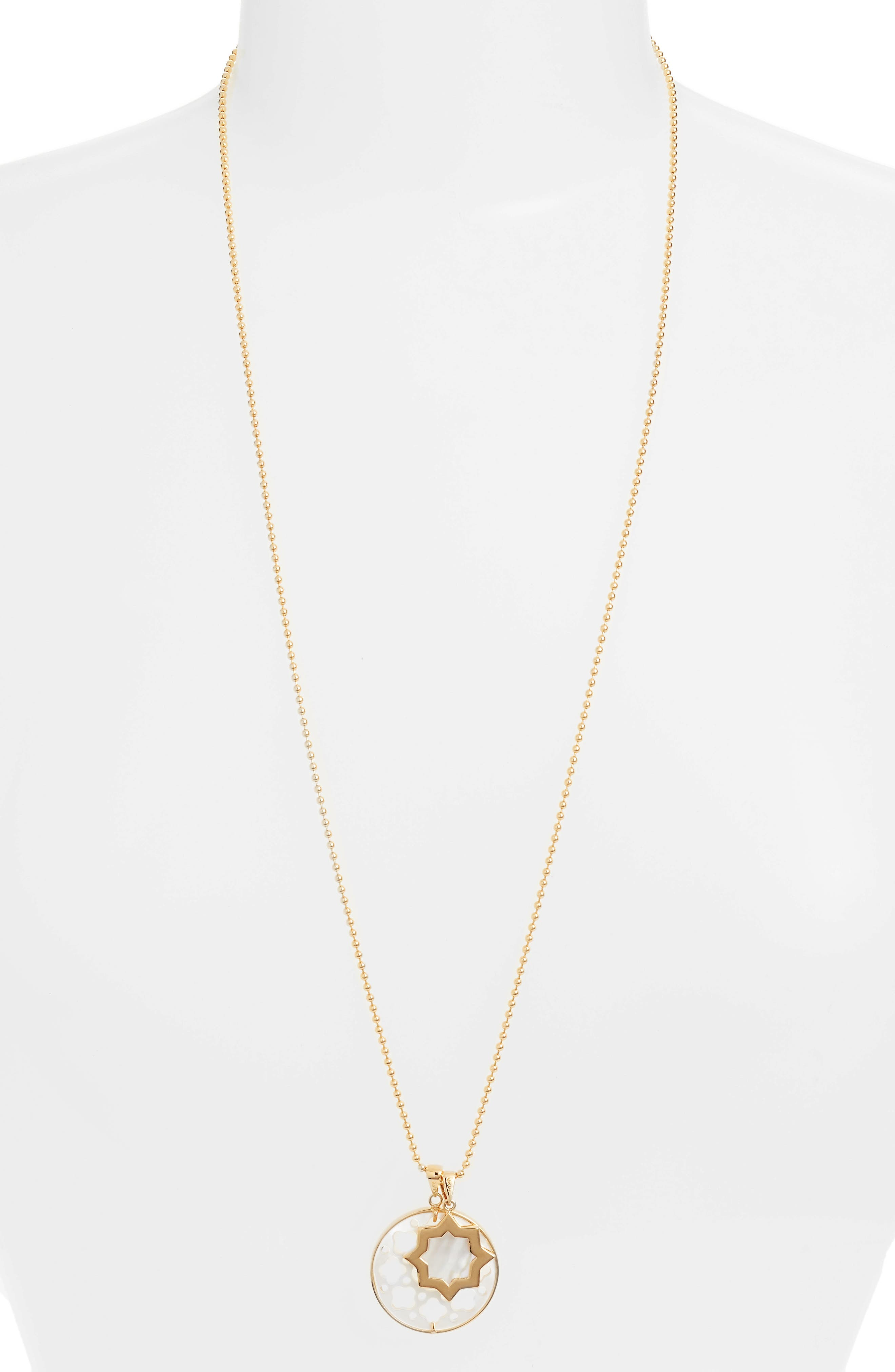 Carlotta Mother-of-Pearl Pendant Necklace,                         Main,                         color,