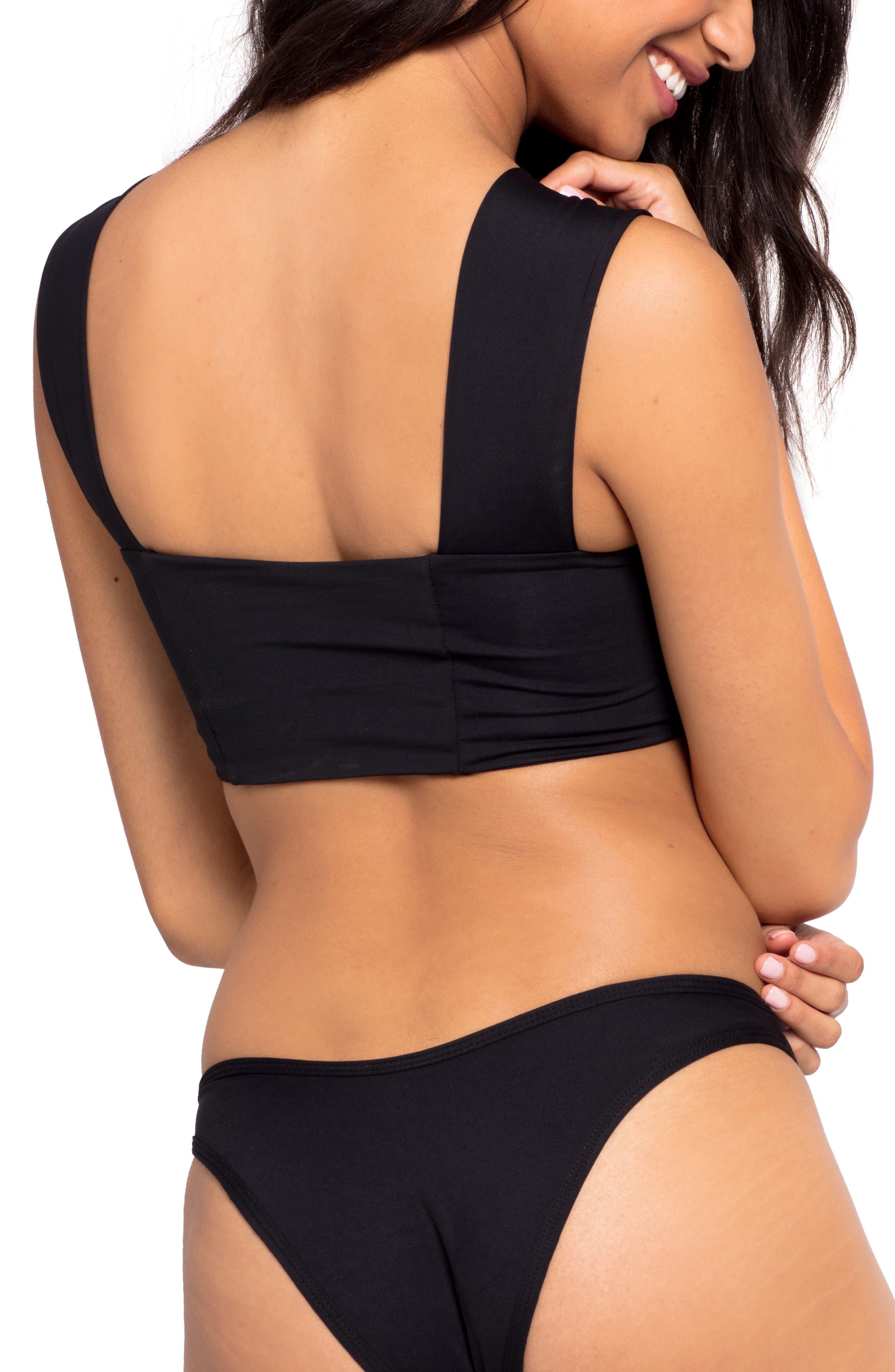 Parker Bikini Top,                             Alternate thumbnail 3, color,                             BLACK