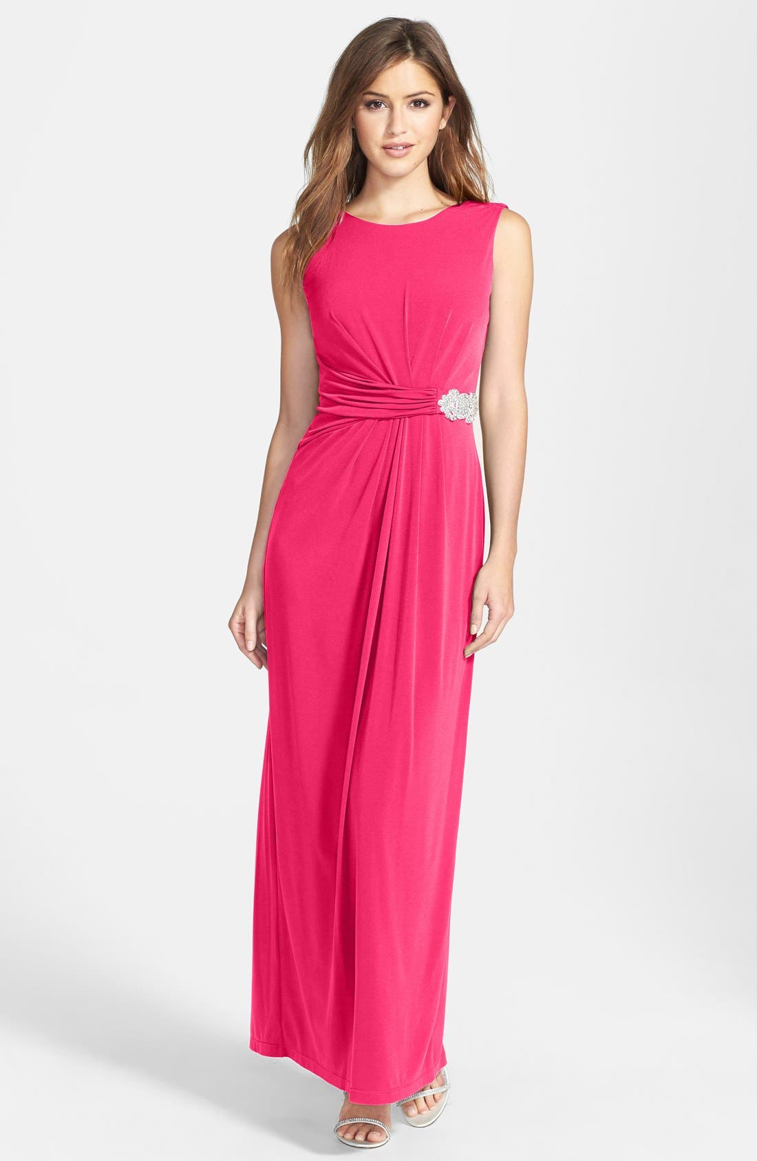 Embellished Jersey Gown,                             Main thumbnail 1, color,                             655