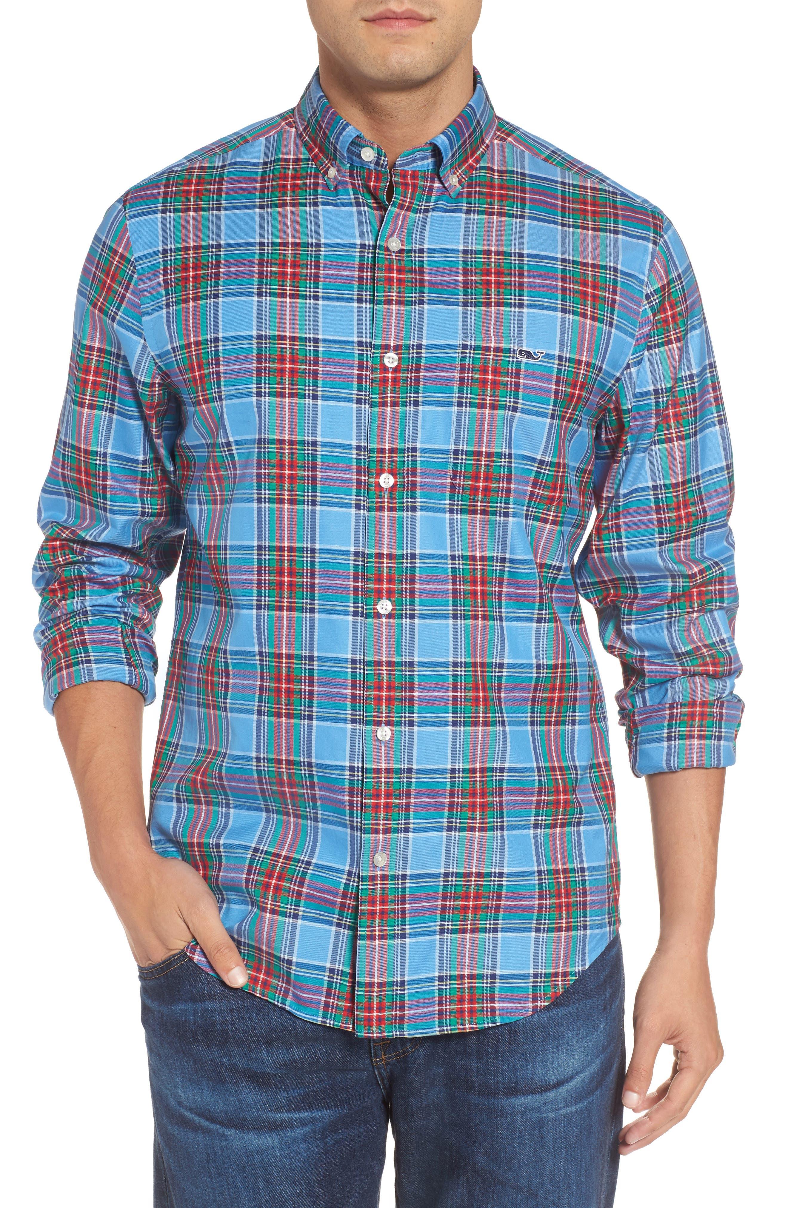 Tucker Belmont Classic Fit Plaid Sport Shirt,                         Main,                         color, 447