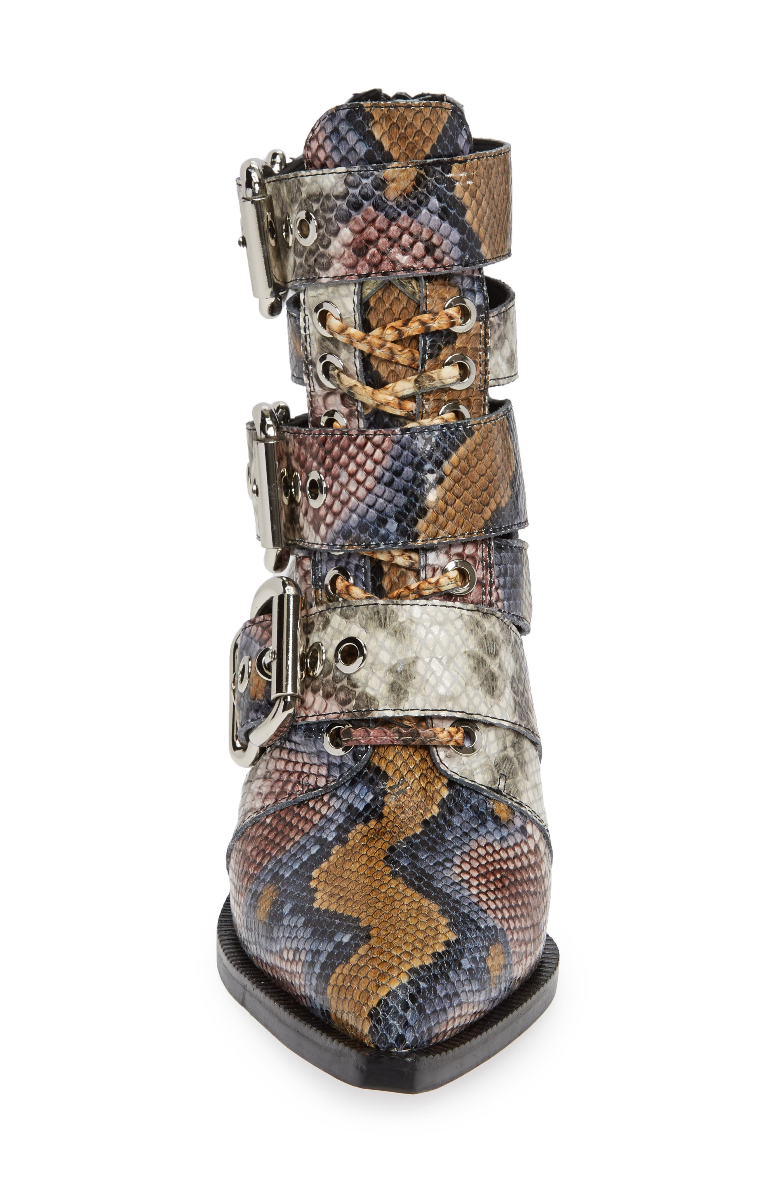 Caceres Bootie,                             Alternate thumbnail 4, color,                             GREY WINE SNAKE PRINT