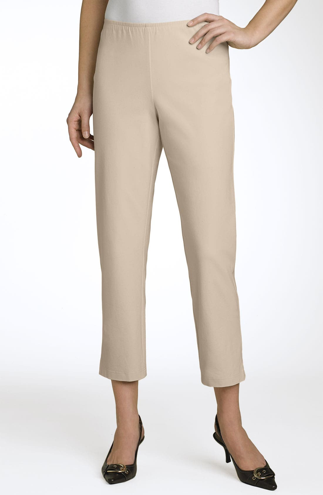 Organic Stretch Cotton Twill Ankle Pants,                             Main thumbnail 17, color,