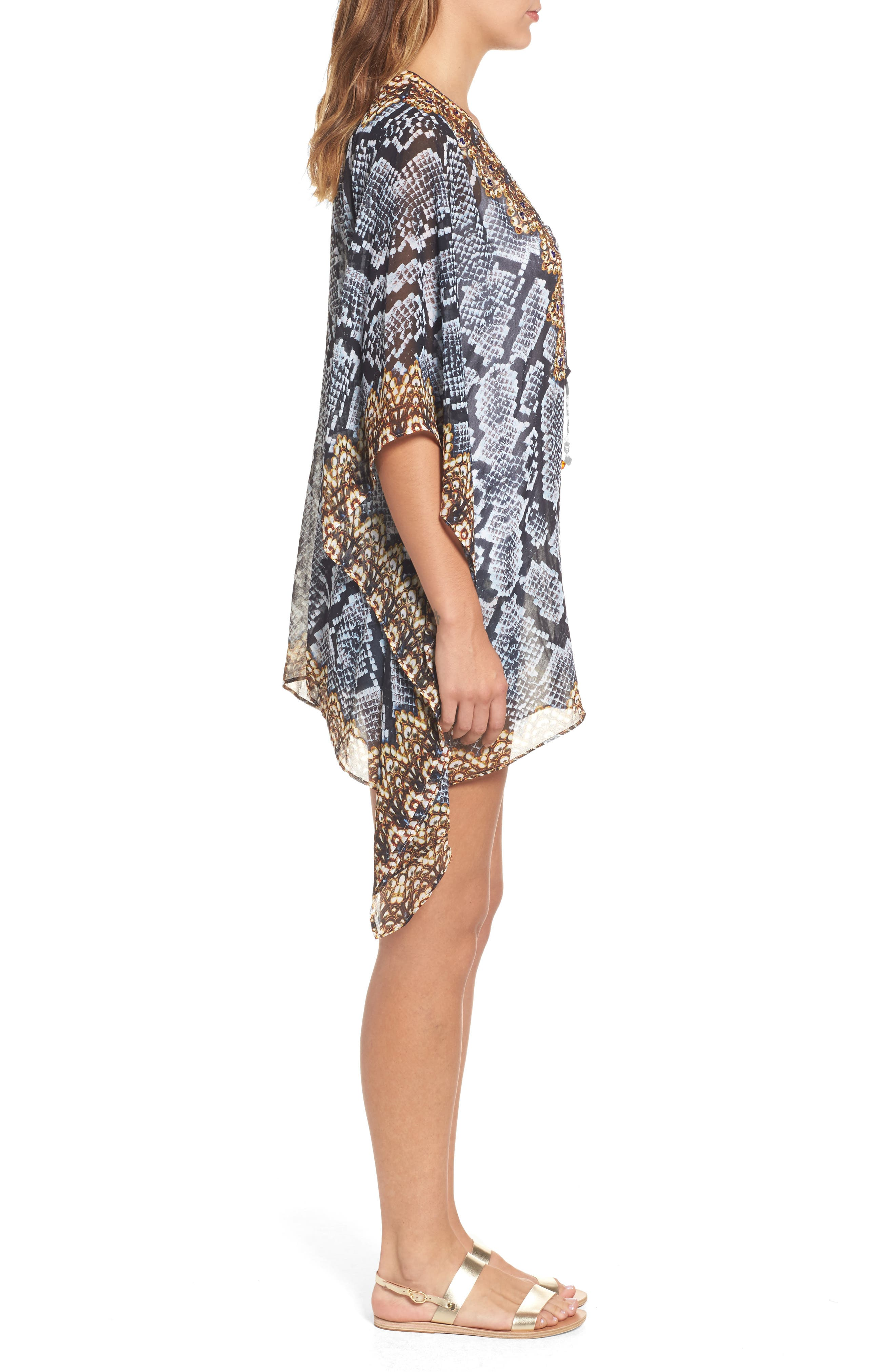 Shiraz Short Kaftan,                             Alternate thumbnail 3, color,                             039