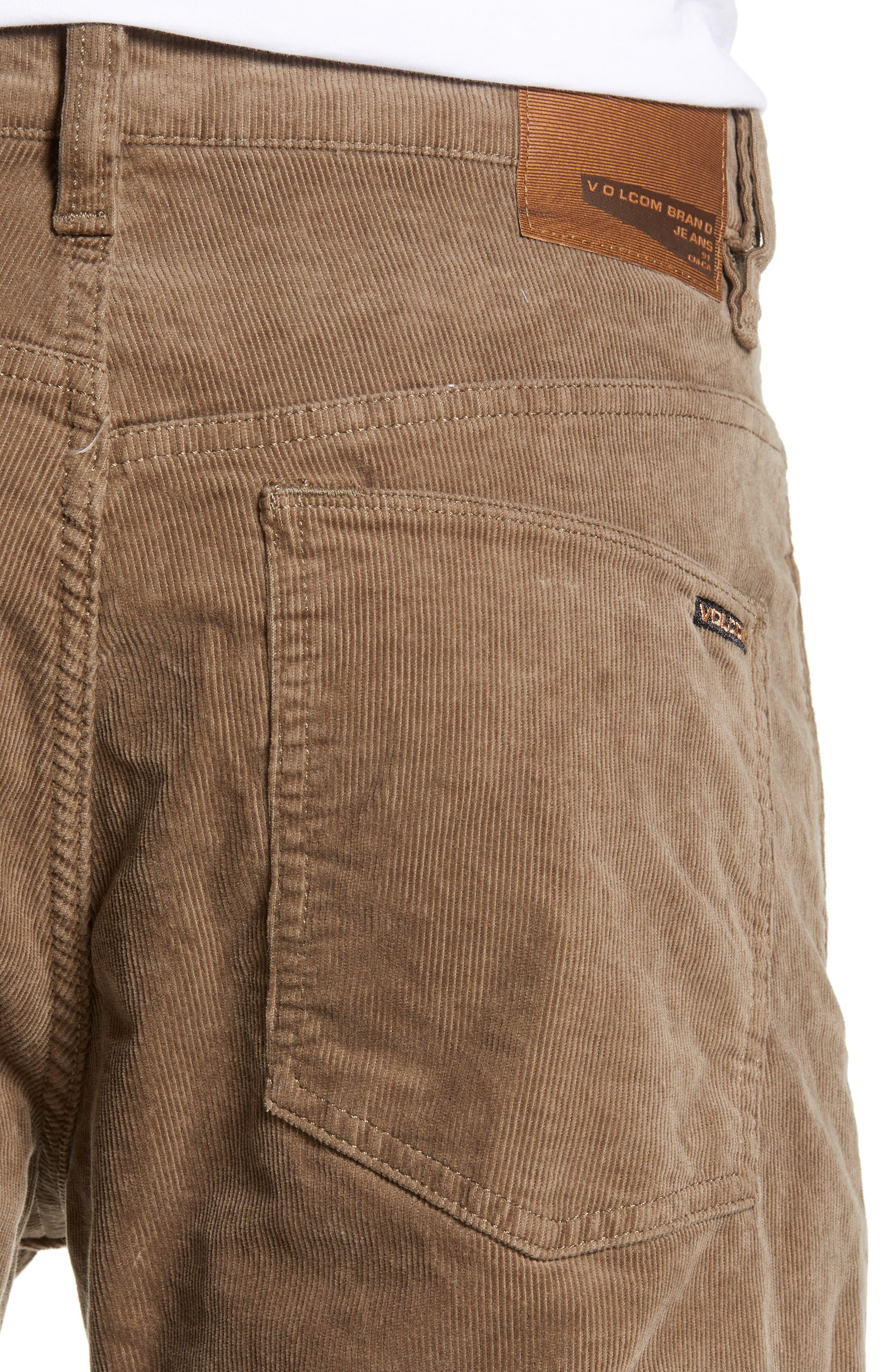 Solver Straight Leg Corduroy Pants,                             Alternate thumbnail 4, color,                             MUSHROOM