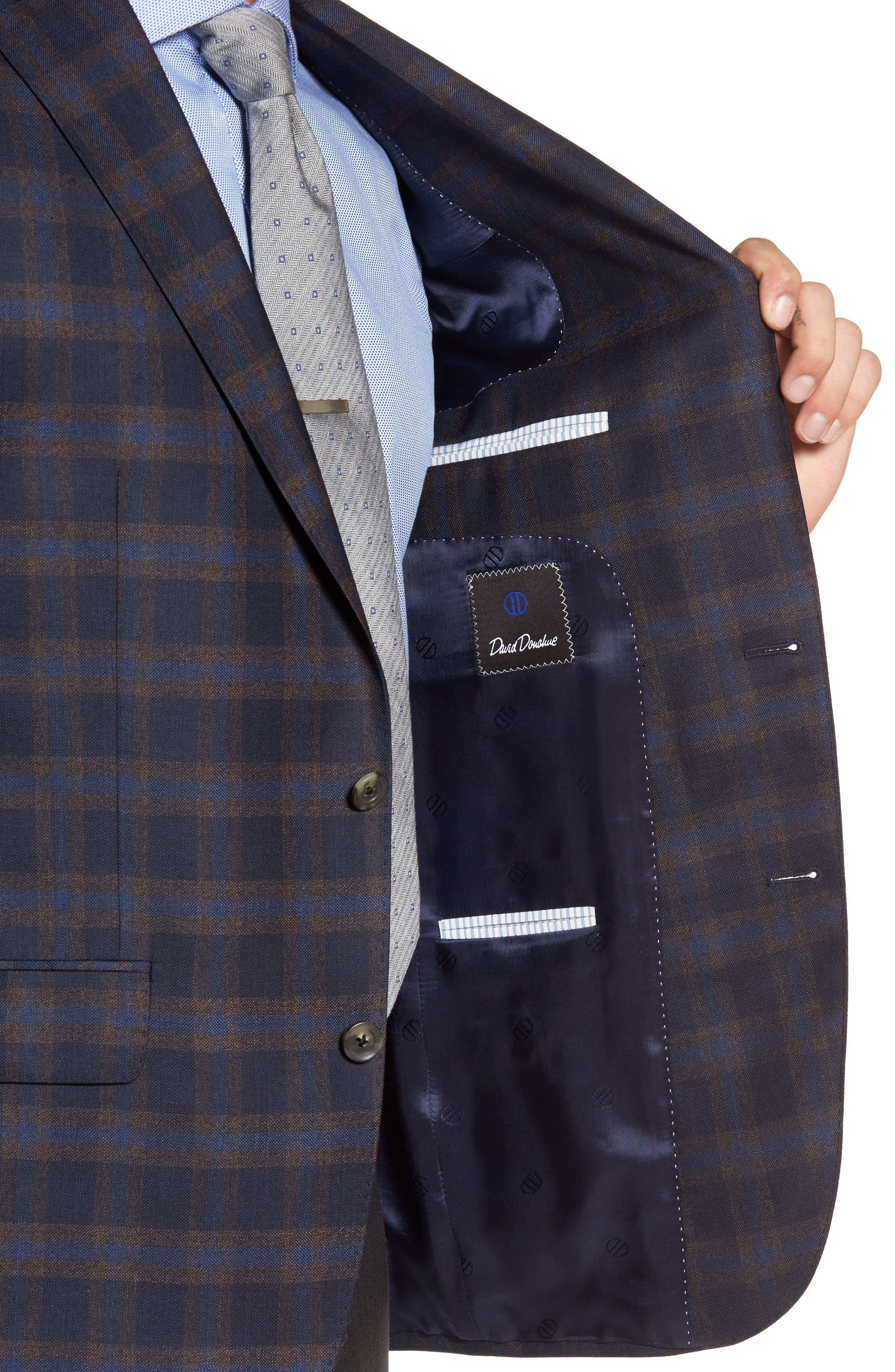 Connor Classic Fit Check Wool Sport Coat,                             Alternate thumbnail 4, color,                             410